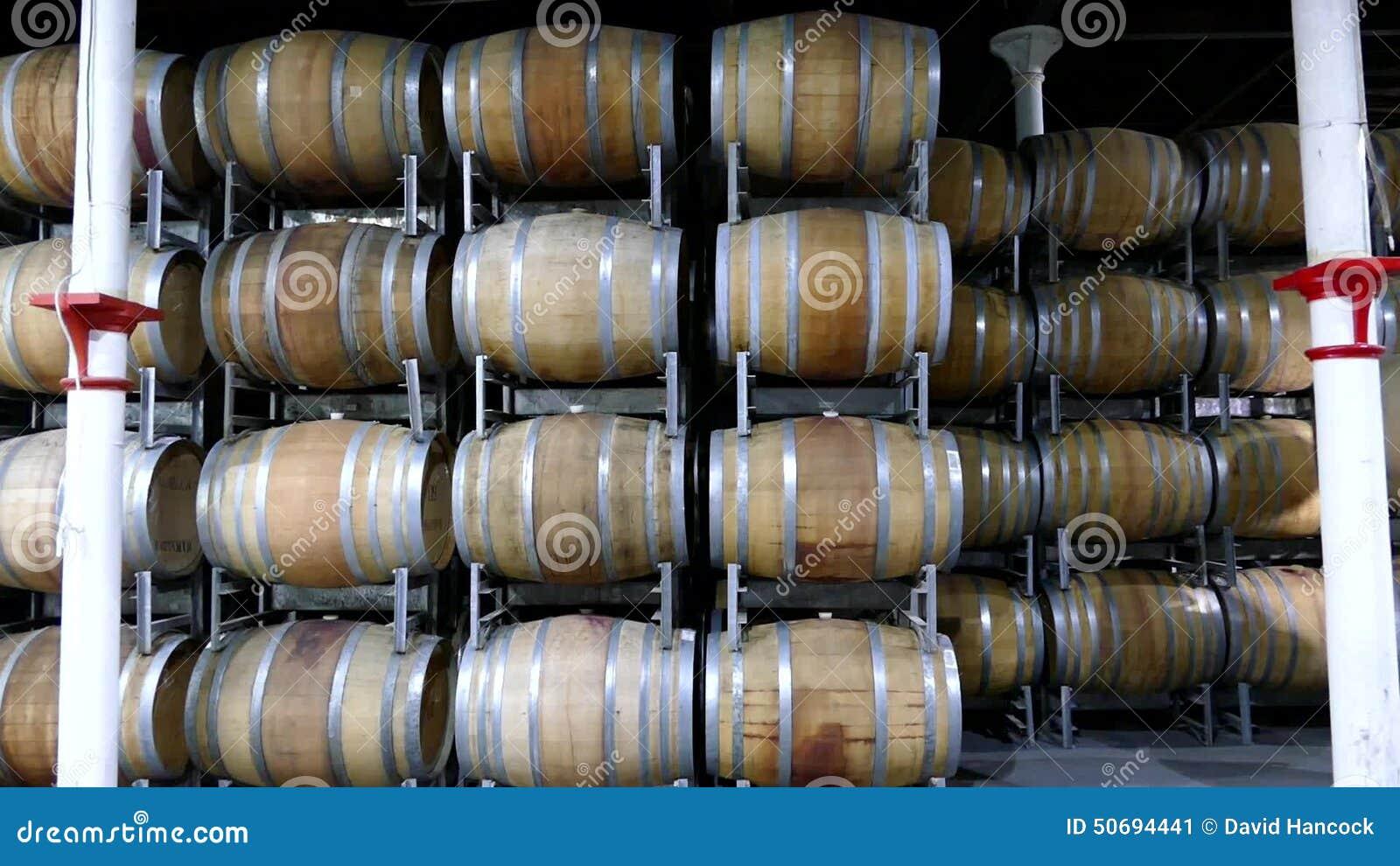 stacked oak barrels. Stacked Oak Barrels