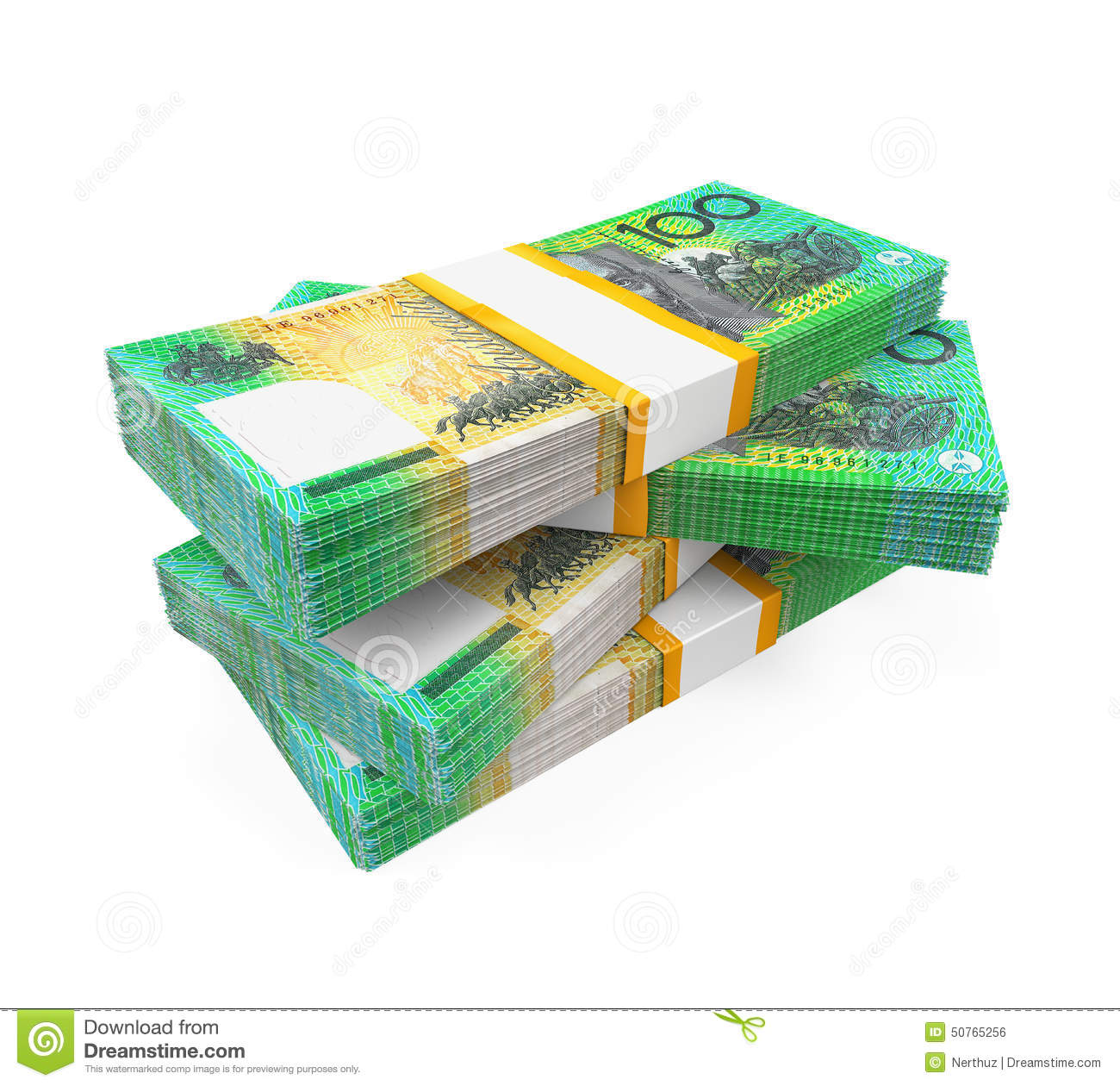 Black And White Music Notes Background Stacks Of 100 Australi...