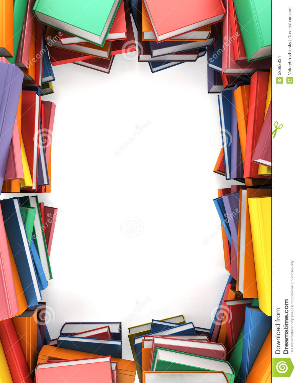 The Stacks Of Books That Form A Frame Stock Illustration