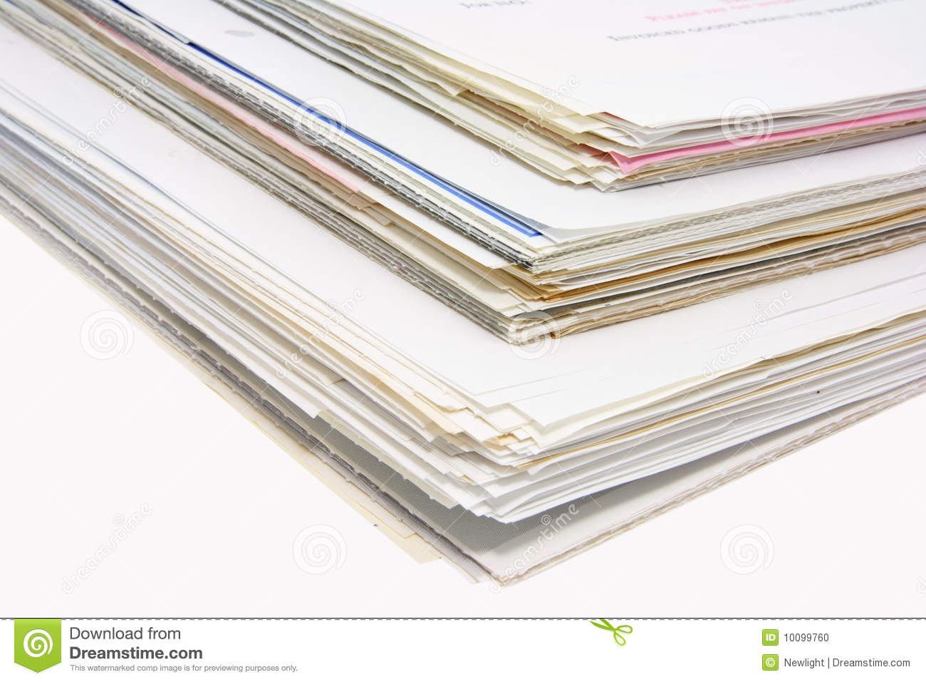 Download Stacks Of Business Documents Stock Photo - Image of shot, pile: 10099760