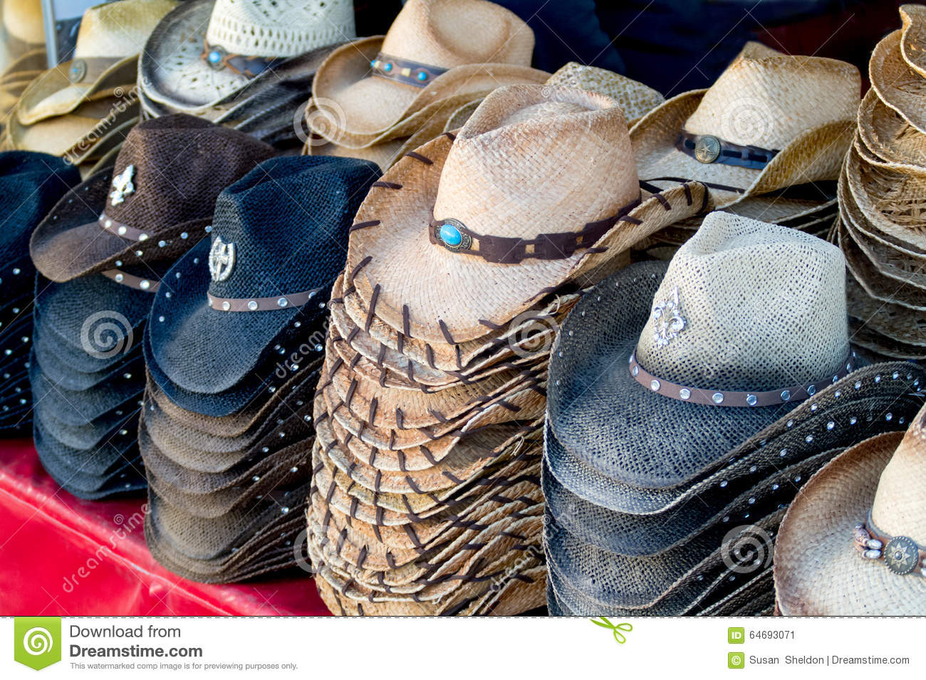 1f1808fe4174c1 Stacks of fun cowboy hats stock image. Image of straw - 64693071