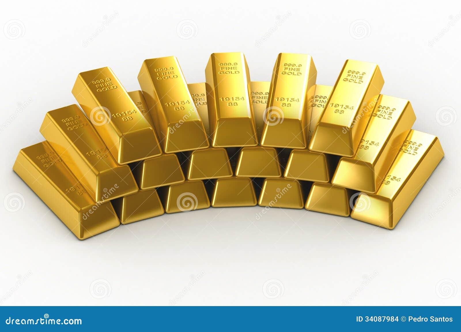 Stacks Of Gold Bars Stock Photo. Image Of Metal, Block