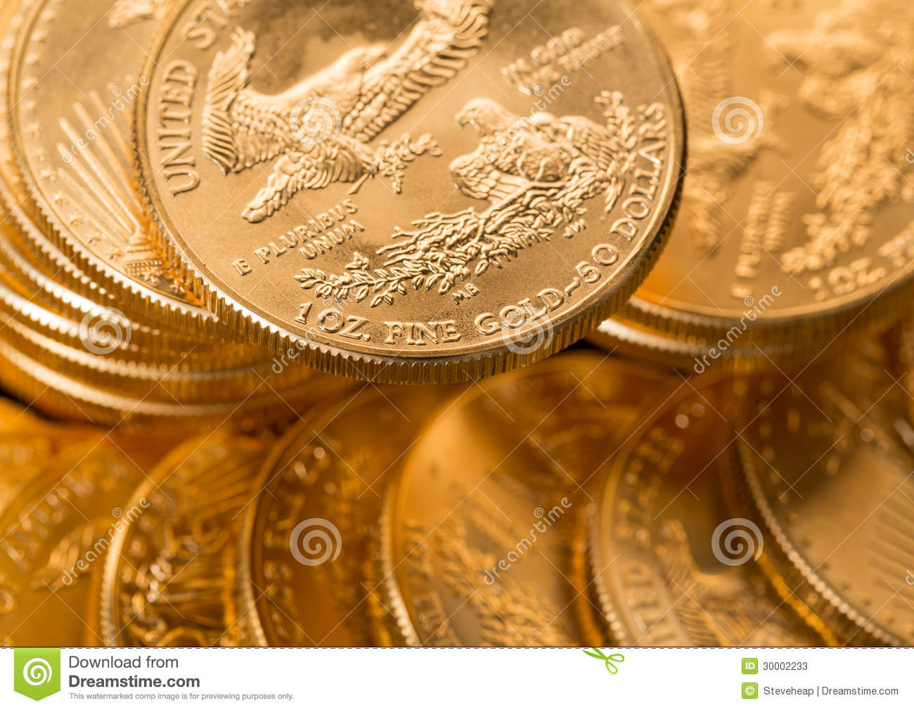 Collection of one ounce gold coins