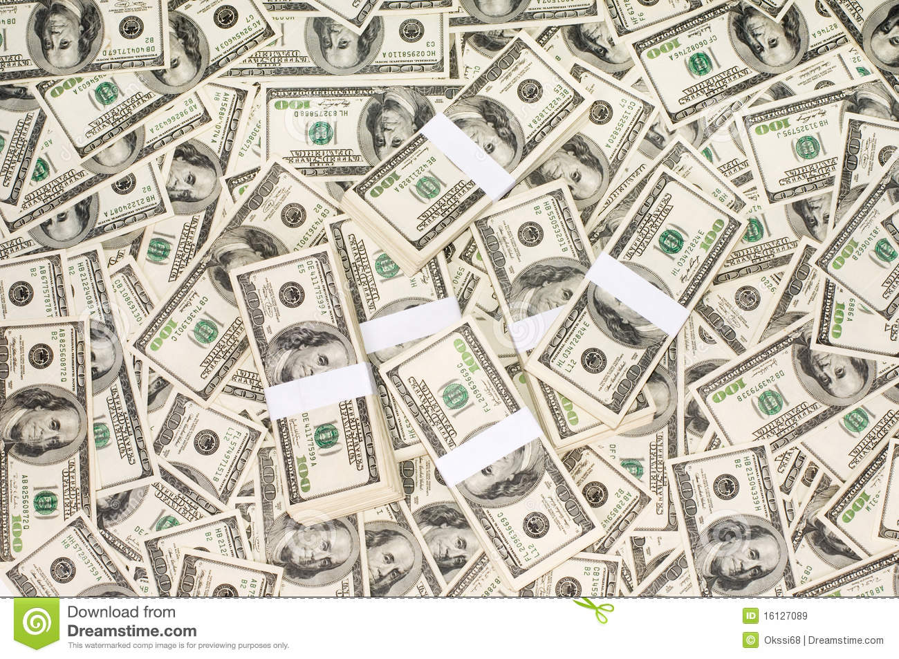 Stacks Of Money Royalty Free Stock Images - Image: 16127089