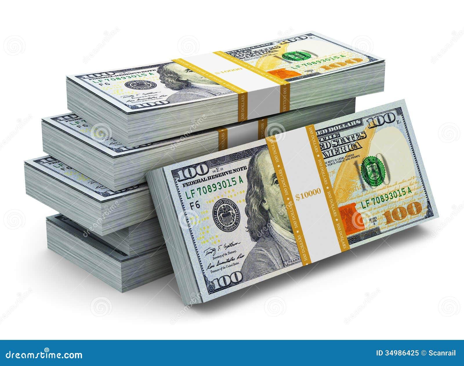 stacks of new 100 us dollar banknotes stock illustration illustration of credit 2013 34986425. Black Bedroom Furniture Sets. Home Design Ideas