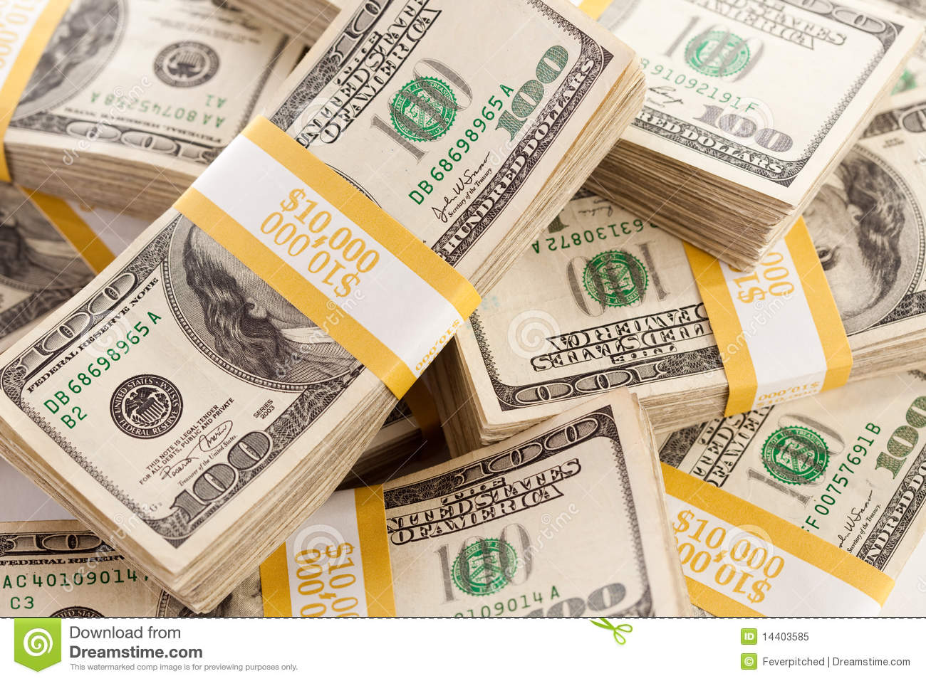 Stacks of one hundred dollar bills royalty free stock for 200 thousand dollar homes