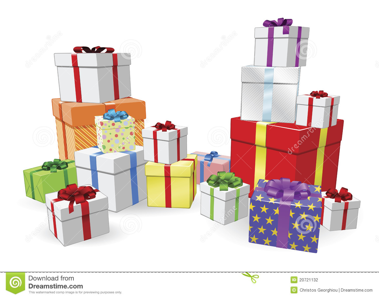Stacks of presents concept stock photography image