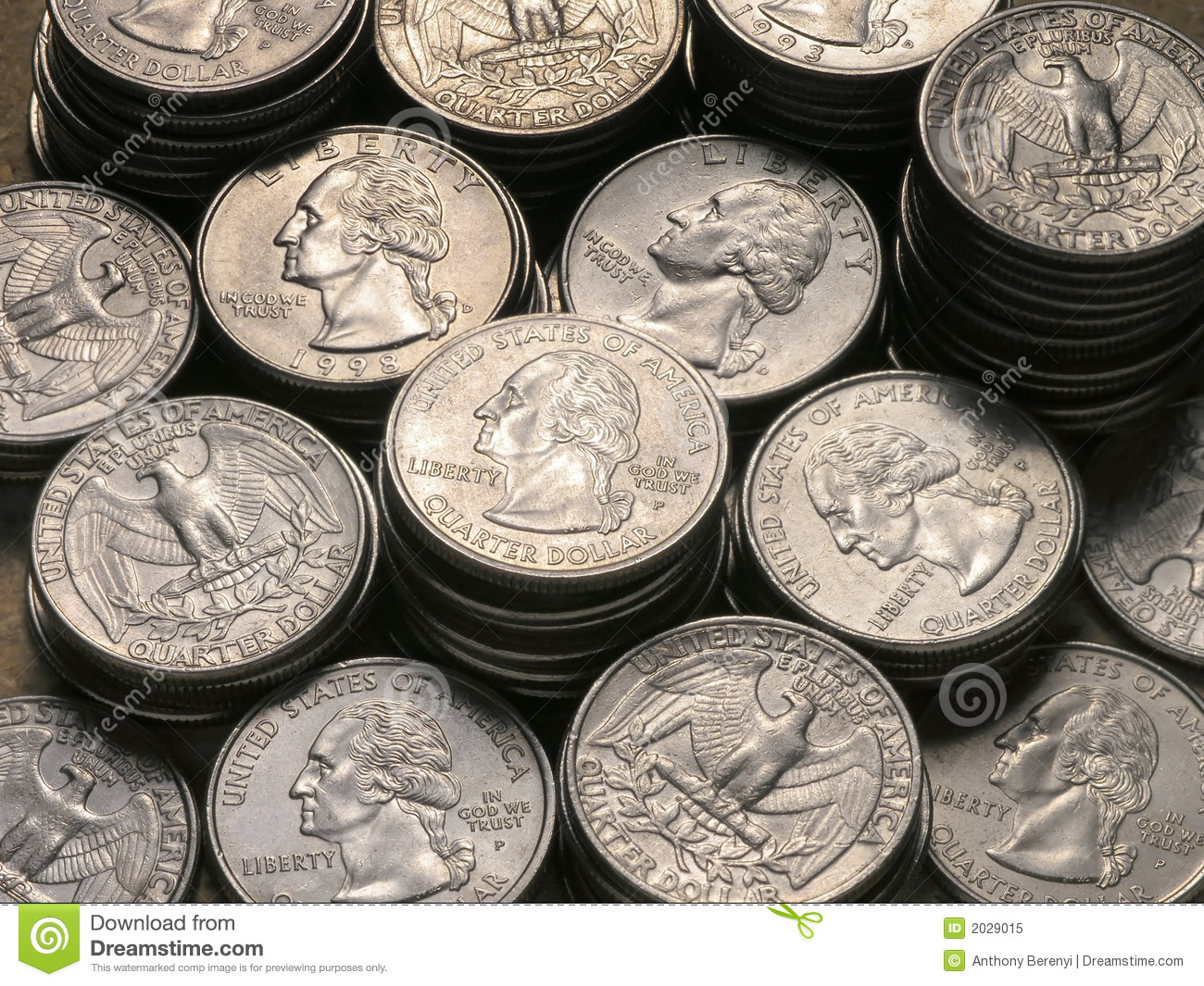 Stacks Of Quarters Royalty Free Stock Photo Image 2029015