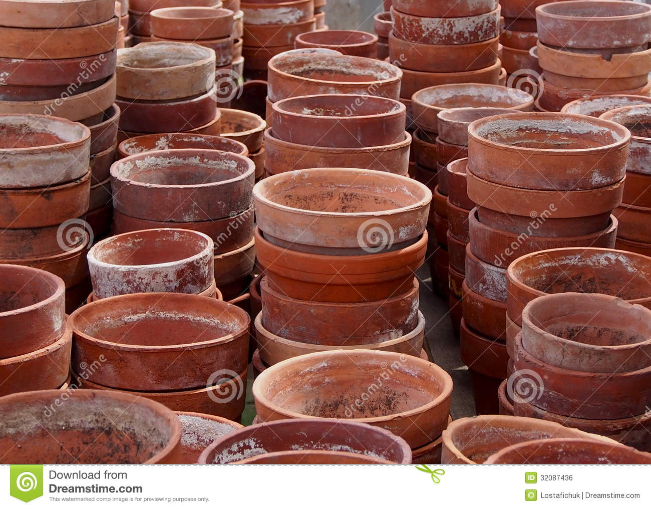 Dreamstime.com & Stacks Of Red Clay Flower Pots Stock Photo - Image of ...