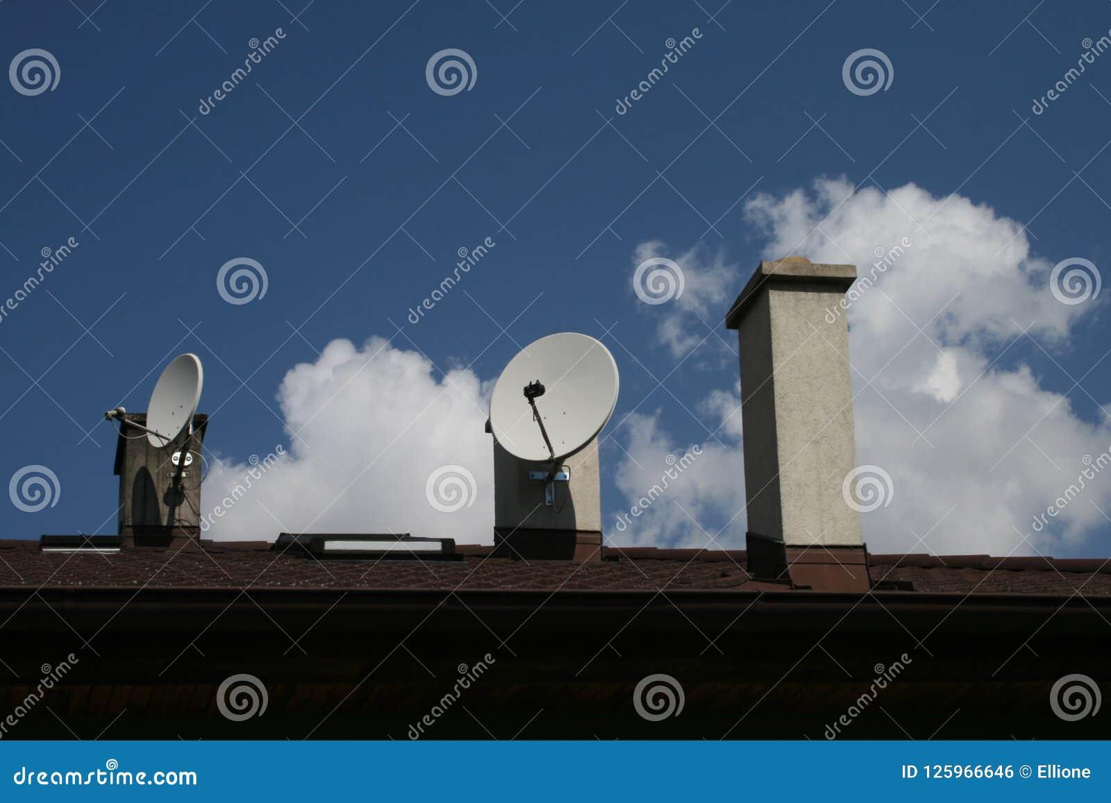 Stacks with satellites.