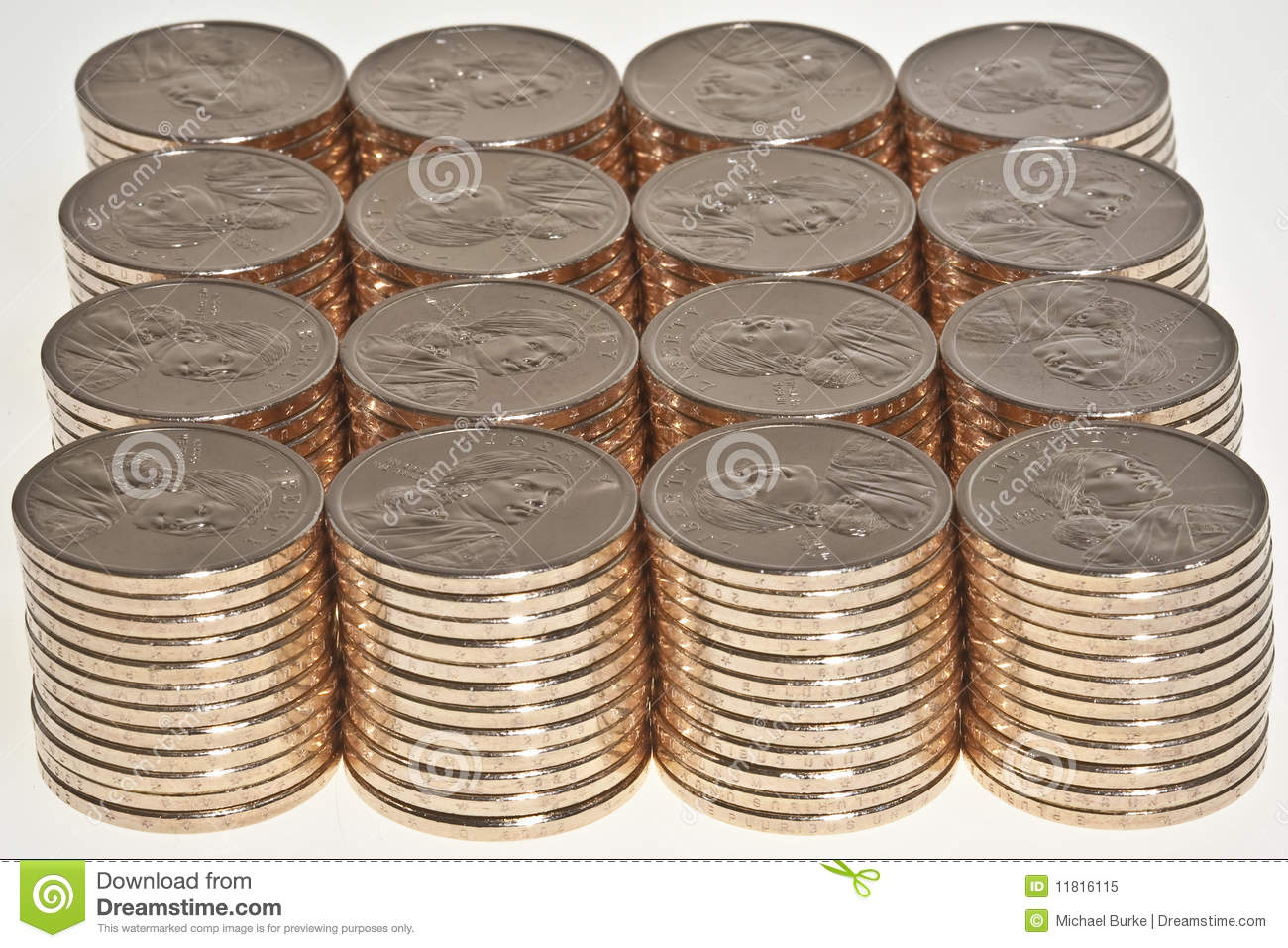 how to draw a stack of coins