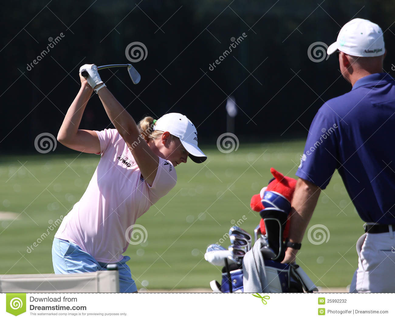 Stacy Lewis på golf Evian styrer 2012