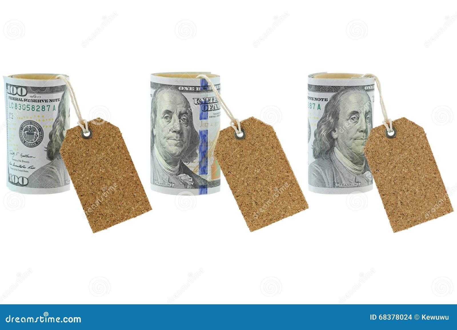 Staczający się nowy Zlany twierdzić 100 dolarów banknot z pusty naturalnym
