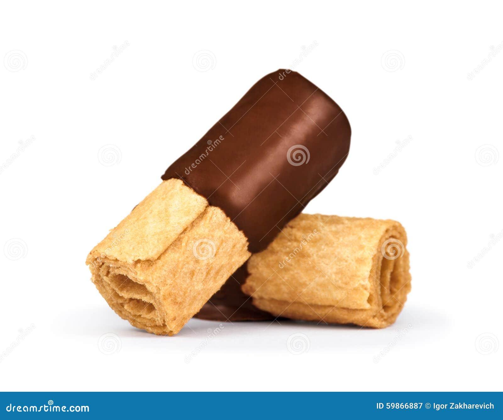 Staczający się opłatki w czekoladzie