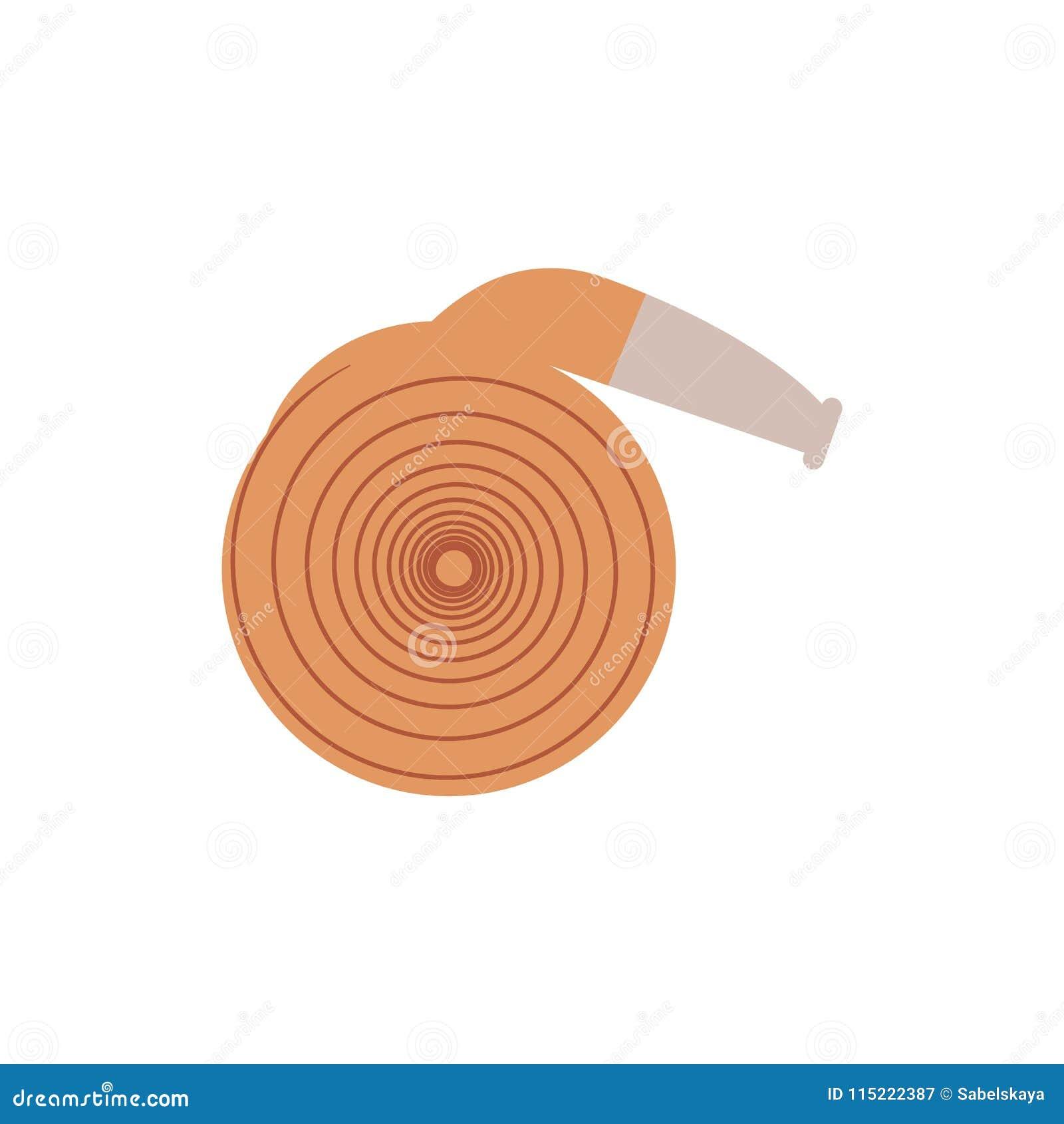 Staczający się w górę pożarniczego węża elastycznego - wyposażenie dla gasić z wodą odizolowywającą na białym tle