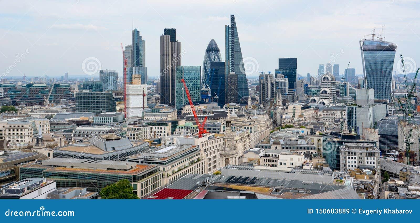 Stad av London en av den leda mitten av global finans