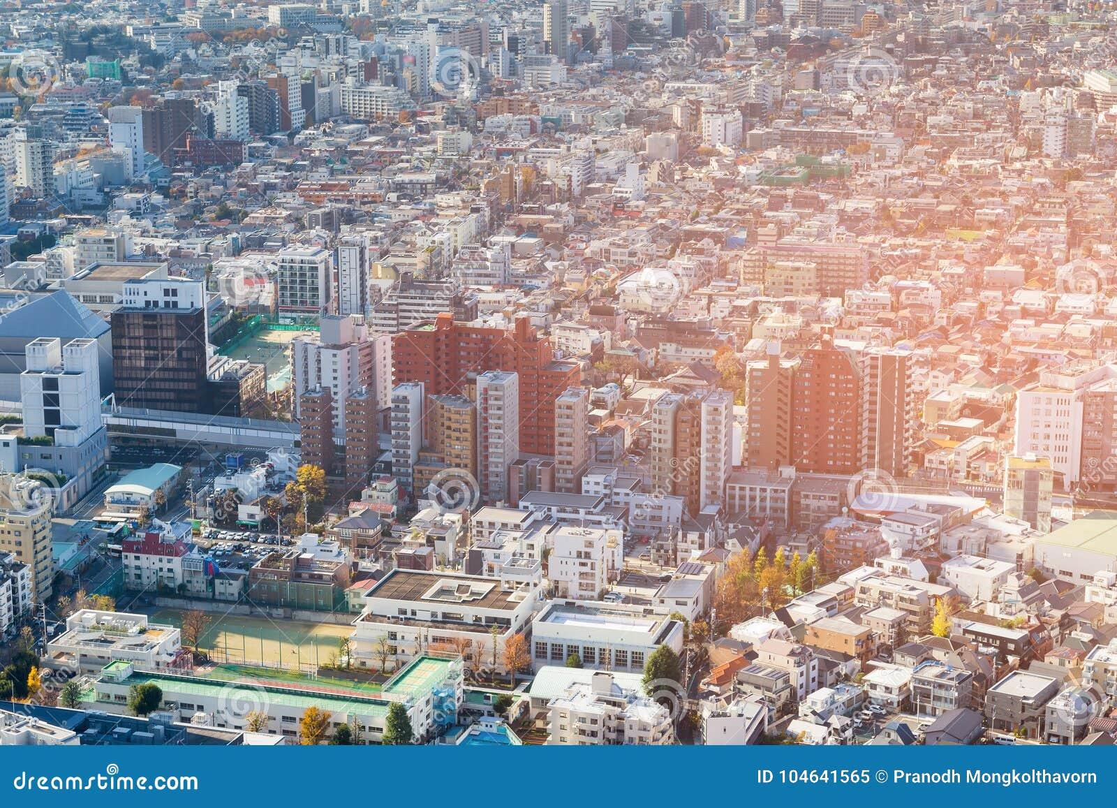 Download Stad De Van De Binnenstad Van Tokyo Van De Stadswoonplaats Stock Afbeelding - Afbeelding bestaande uit downtown, cityscape: 104641565