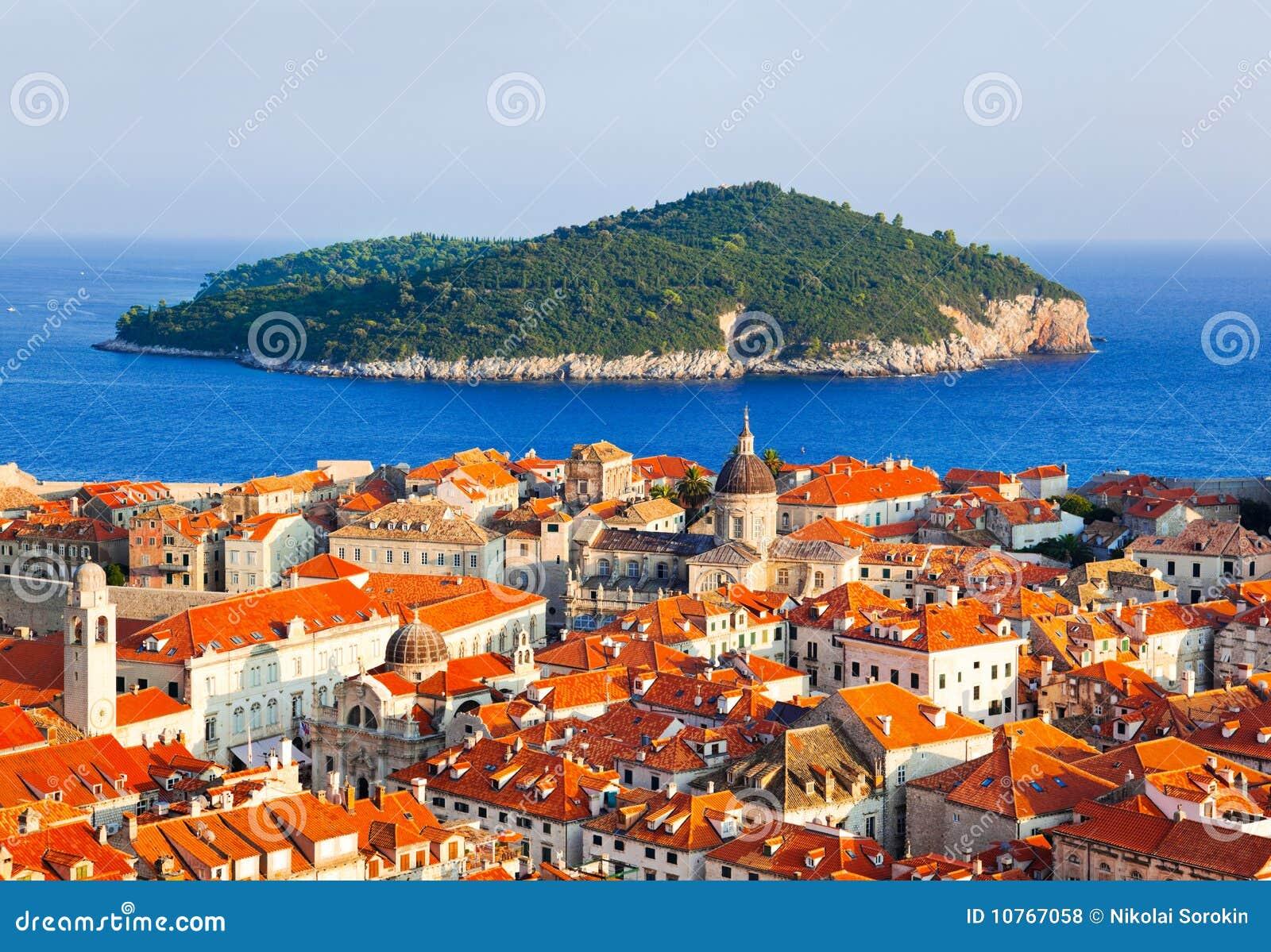 Stad Dubrovnik en eiland in Kroatië