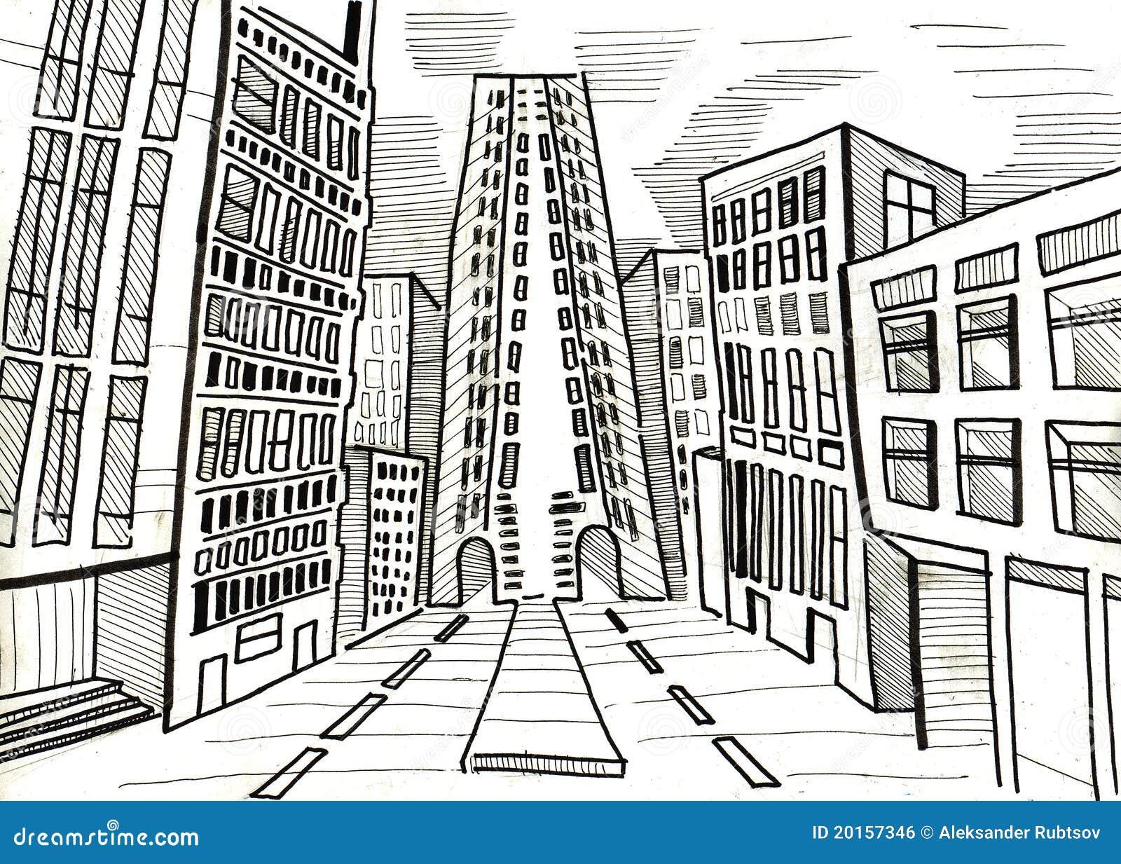 Trendy stad en koepel en tekening en with tekenen architect for Trap tekenen plattegrond