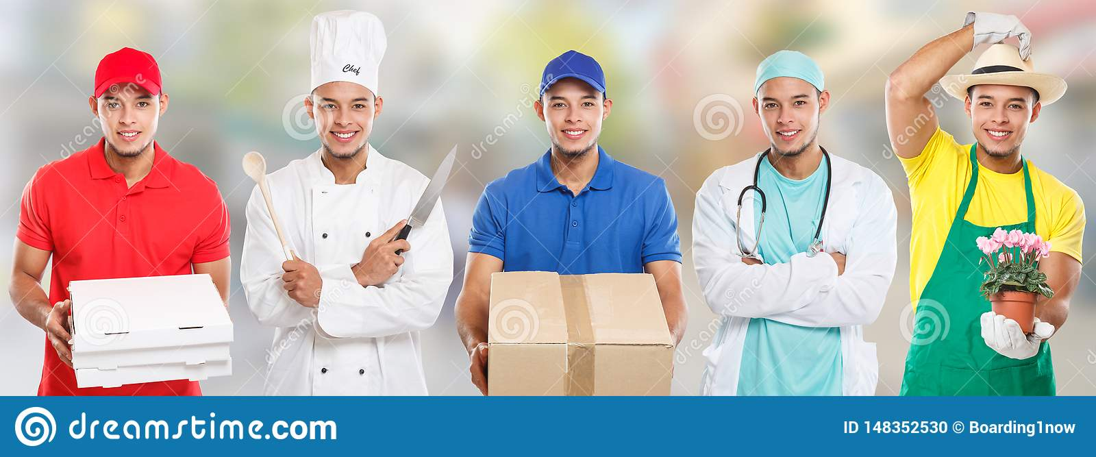 Stad för jobb för man för kock för doktor för yrke för utbildning för ockupationockupationutbildning ung latinsk