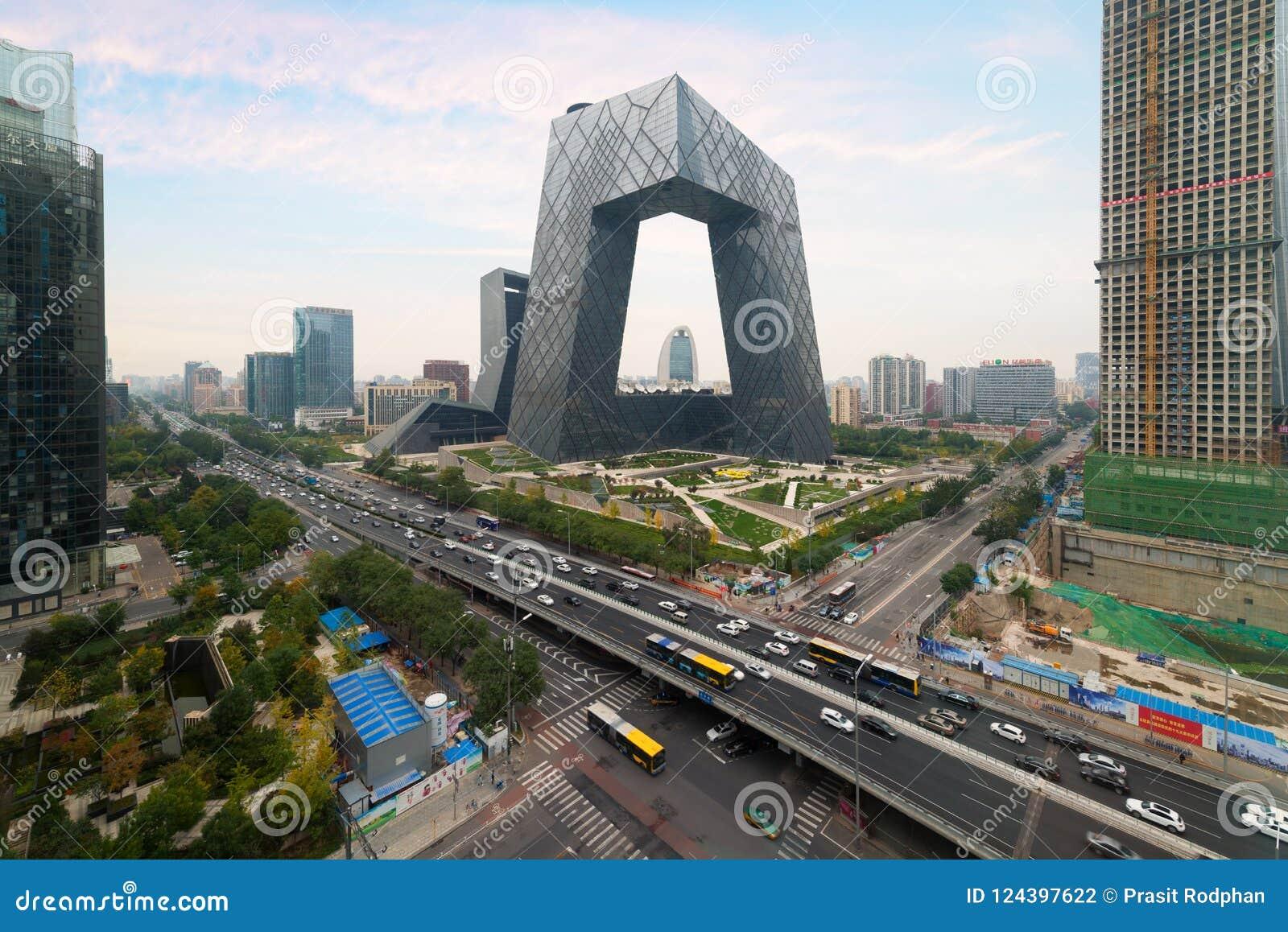 Stad för Peking för Kina ` s, en berömd gränsmärkebyggnad, Kina CCTV CC
