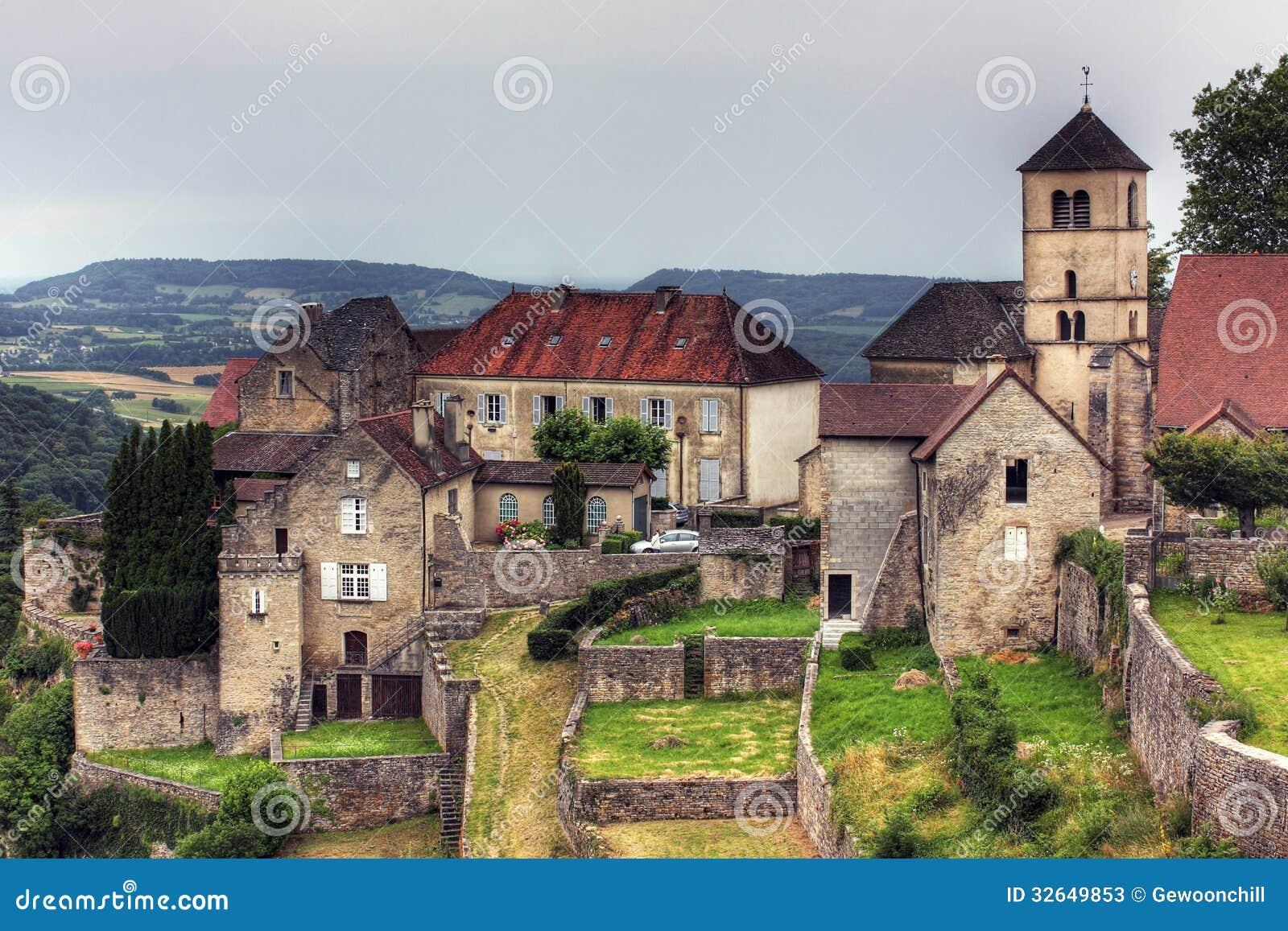 Stad Pa Baumeles Messieurs Jura Frankrike Fotografering For Bildbyraer Bild Av Kyrka Destination 32649853