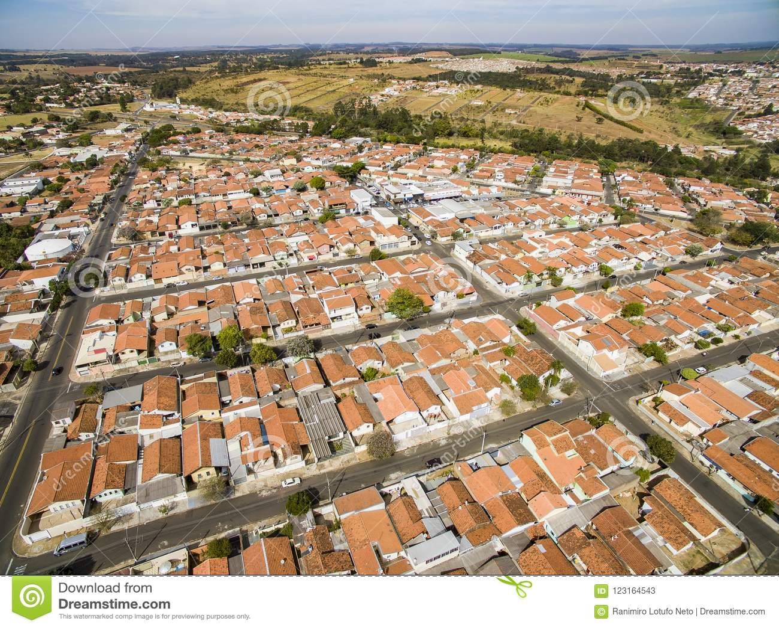 Stad van Botucatu in Sao Paulo, Brazilië Zuid-Amerika
