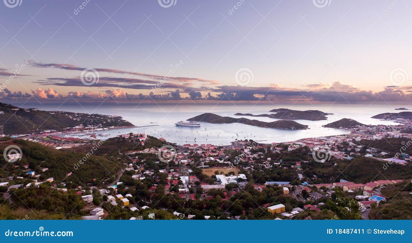 Stad van Charlotte Amalie en Haven