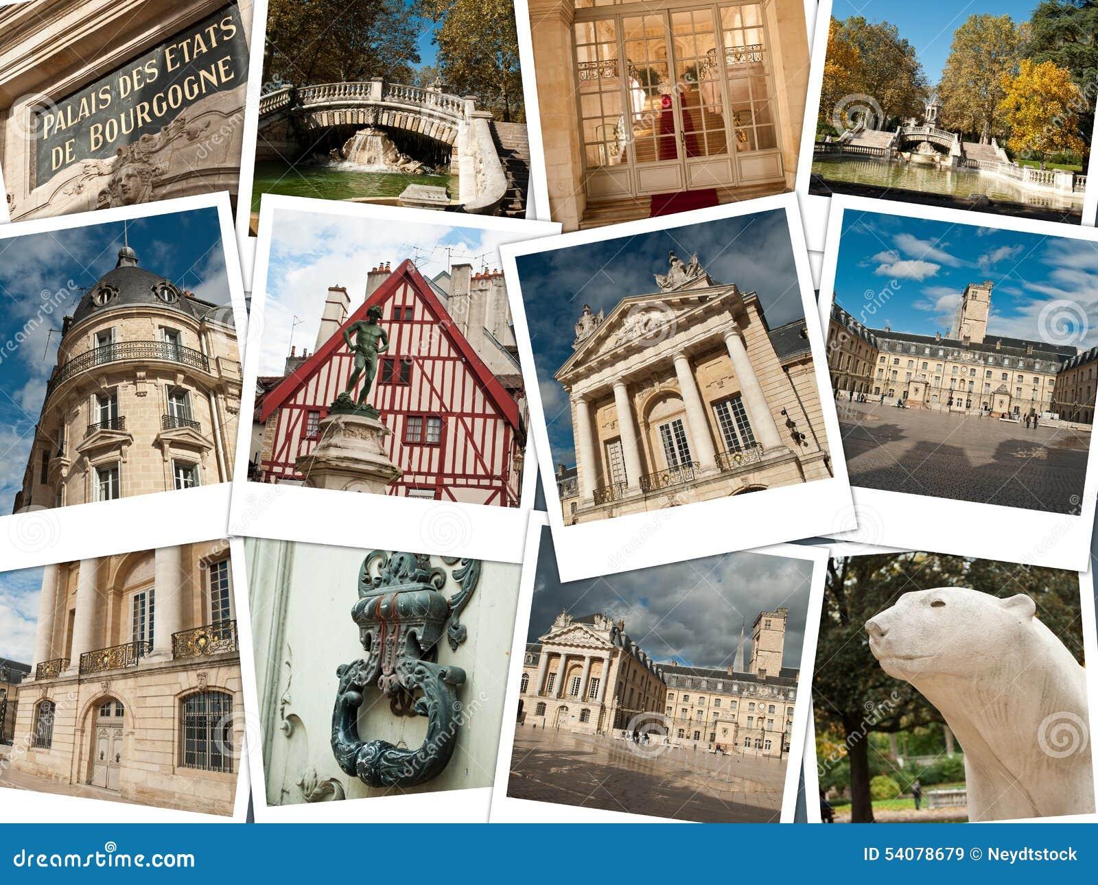 Stad van de collage van Dijon