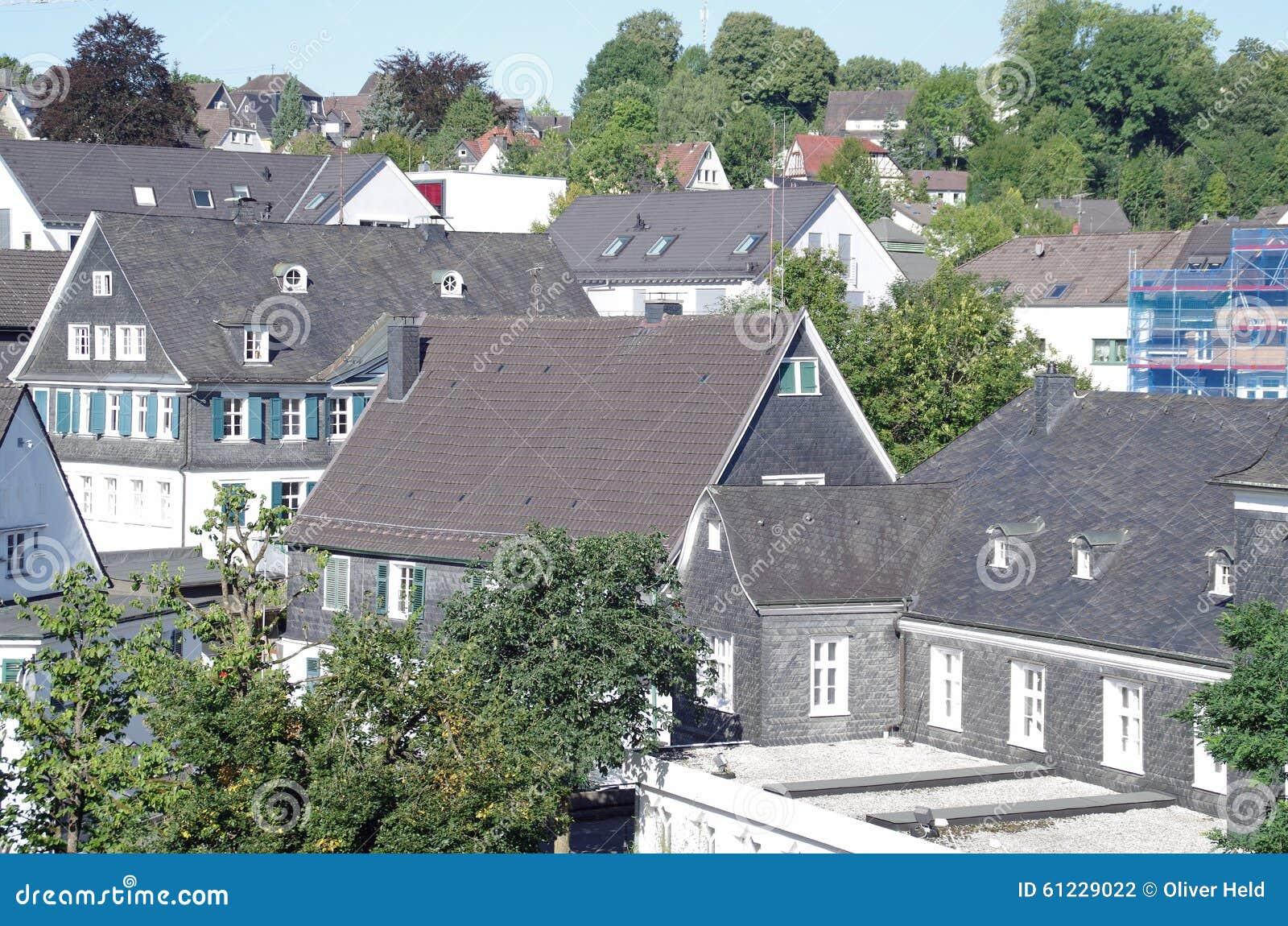 Stad Van Gummersbach, Duitsland Stock Foto - Afbeelding ...