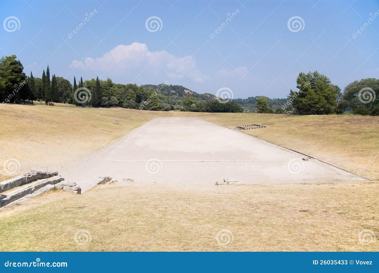 Stade antique dans Olympia pour des Jeux Olympiques