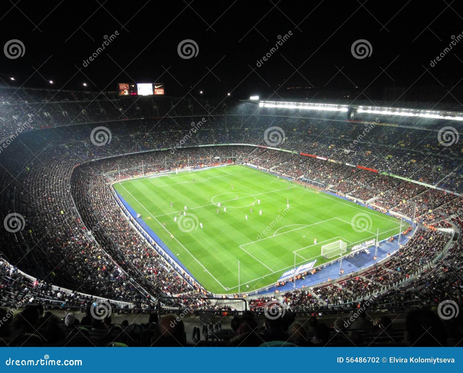 Stade de FC Barcelona serré, Espagne