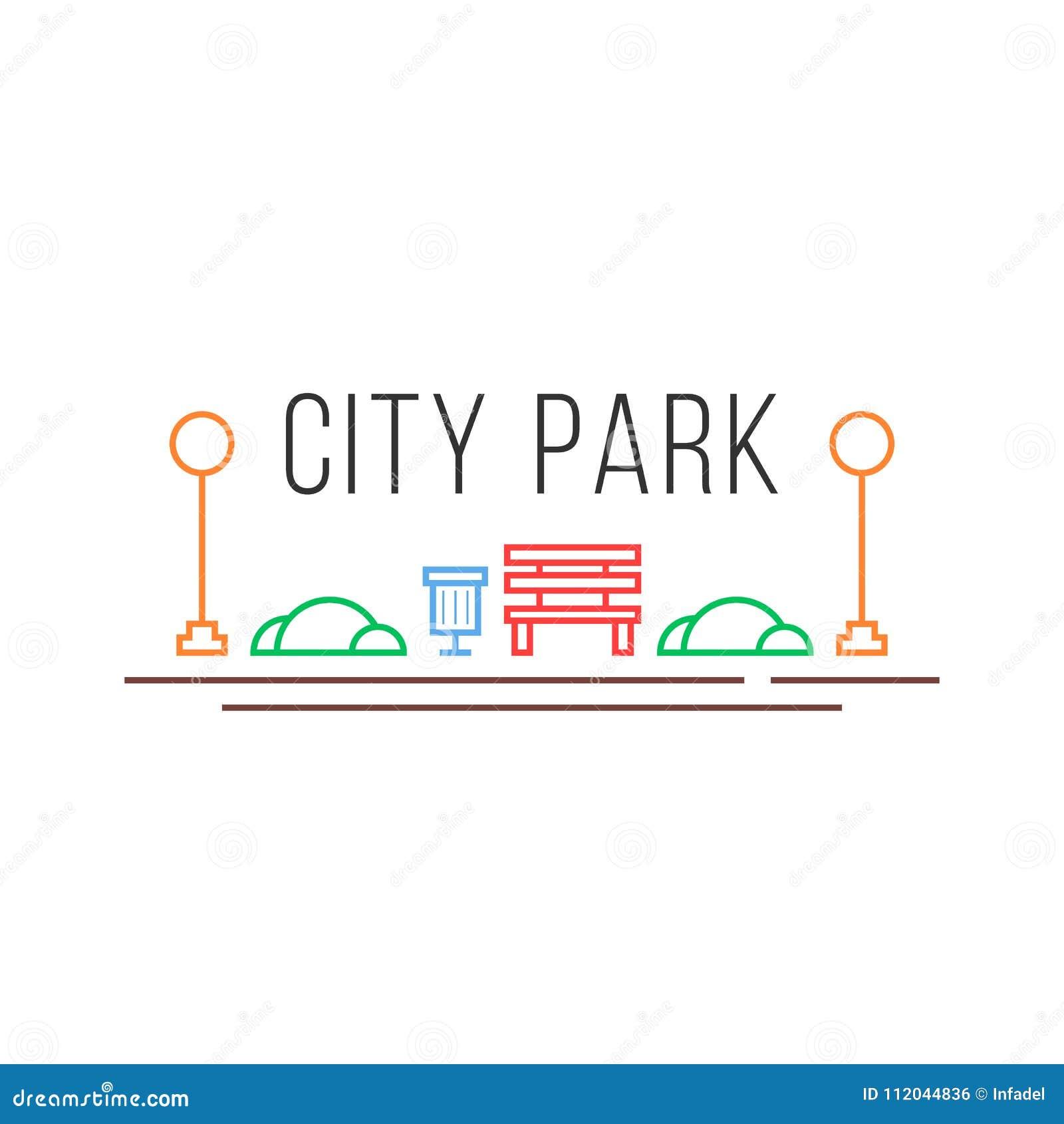 Staden parkerar symbolen i linjär stil