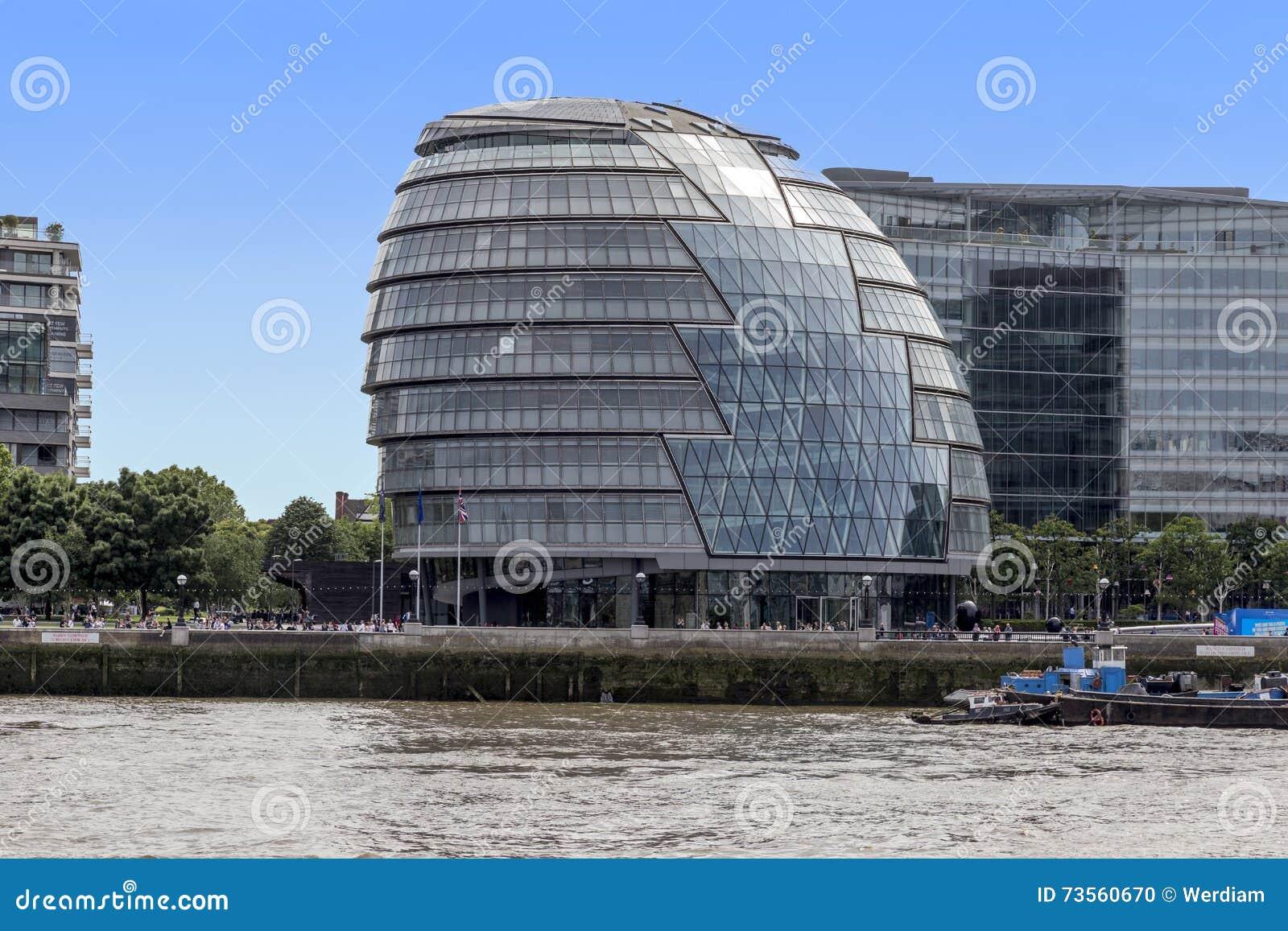 Google Hoofdkwartier Londen : Stadhuis hoofdkwartier van de instantie van groot londen