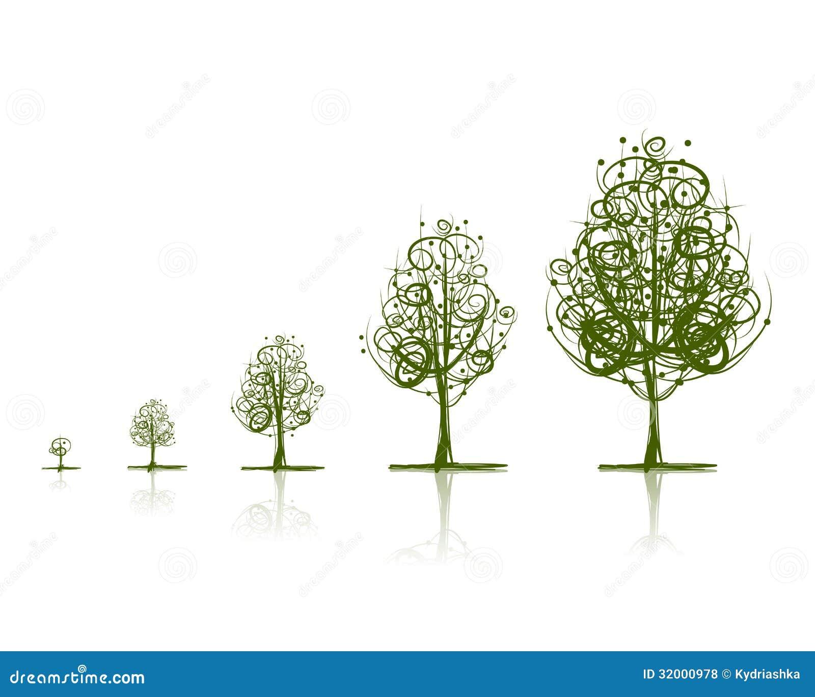 Stadia van het kweken van boom voor uw ontwerp royalty vrije stock foto 39 s afbeelding 32000978 - Boom ontwerp ...
