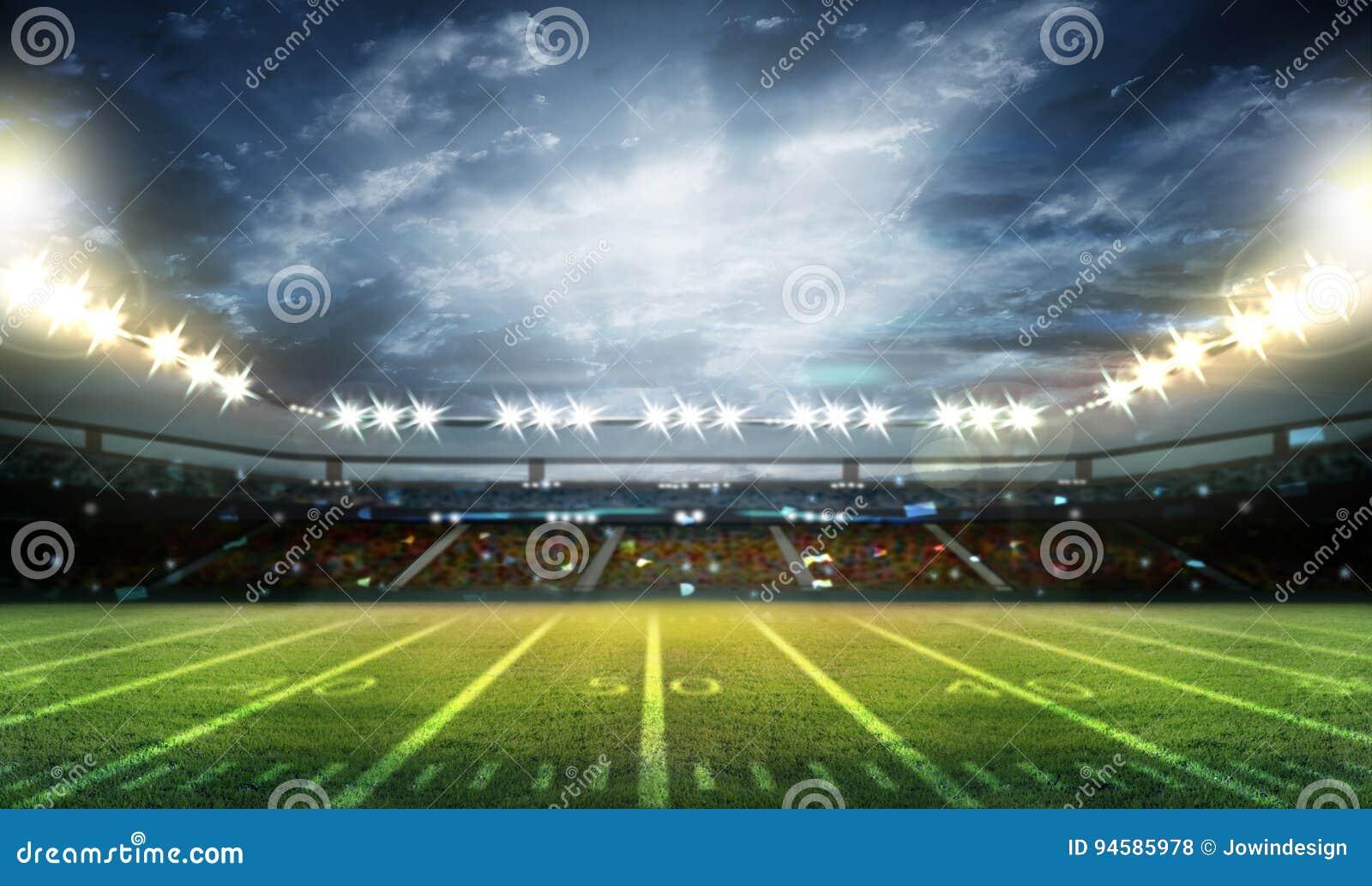 Stadio di football americano 3D