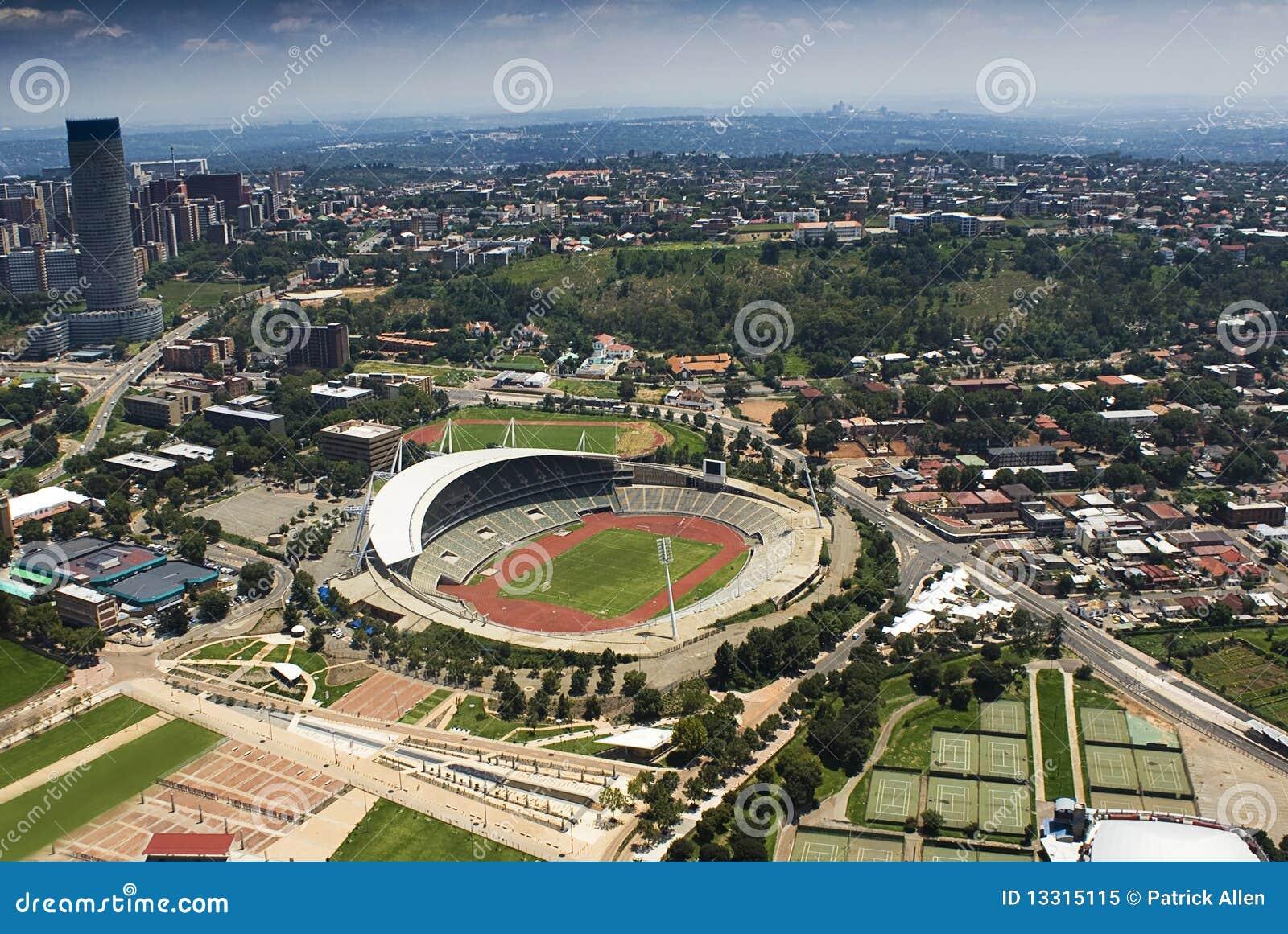 Stadio di Johannesburg - vista aerea