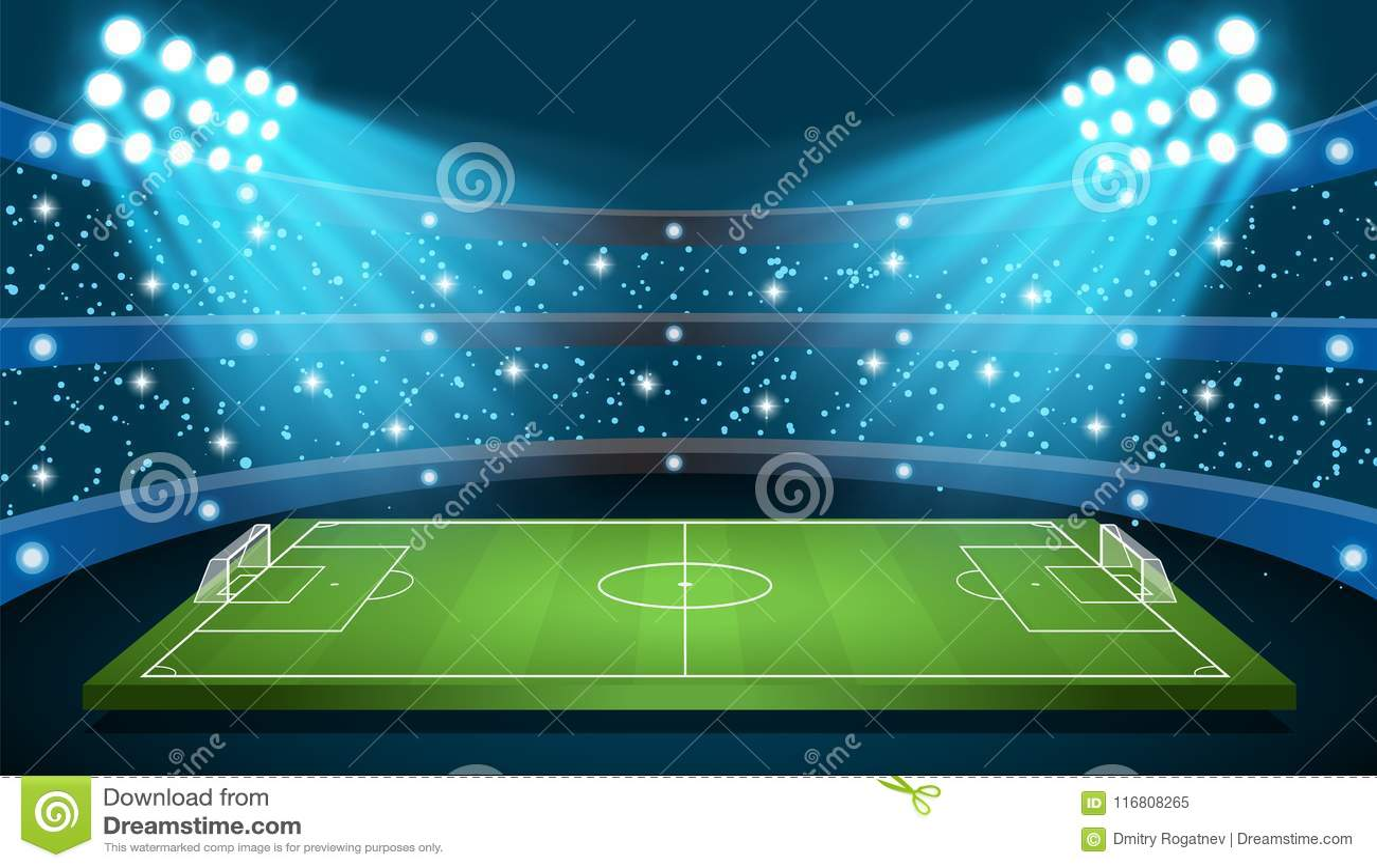 Stadio di vettore del gioco di calcio
