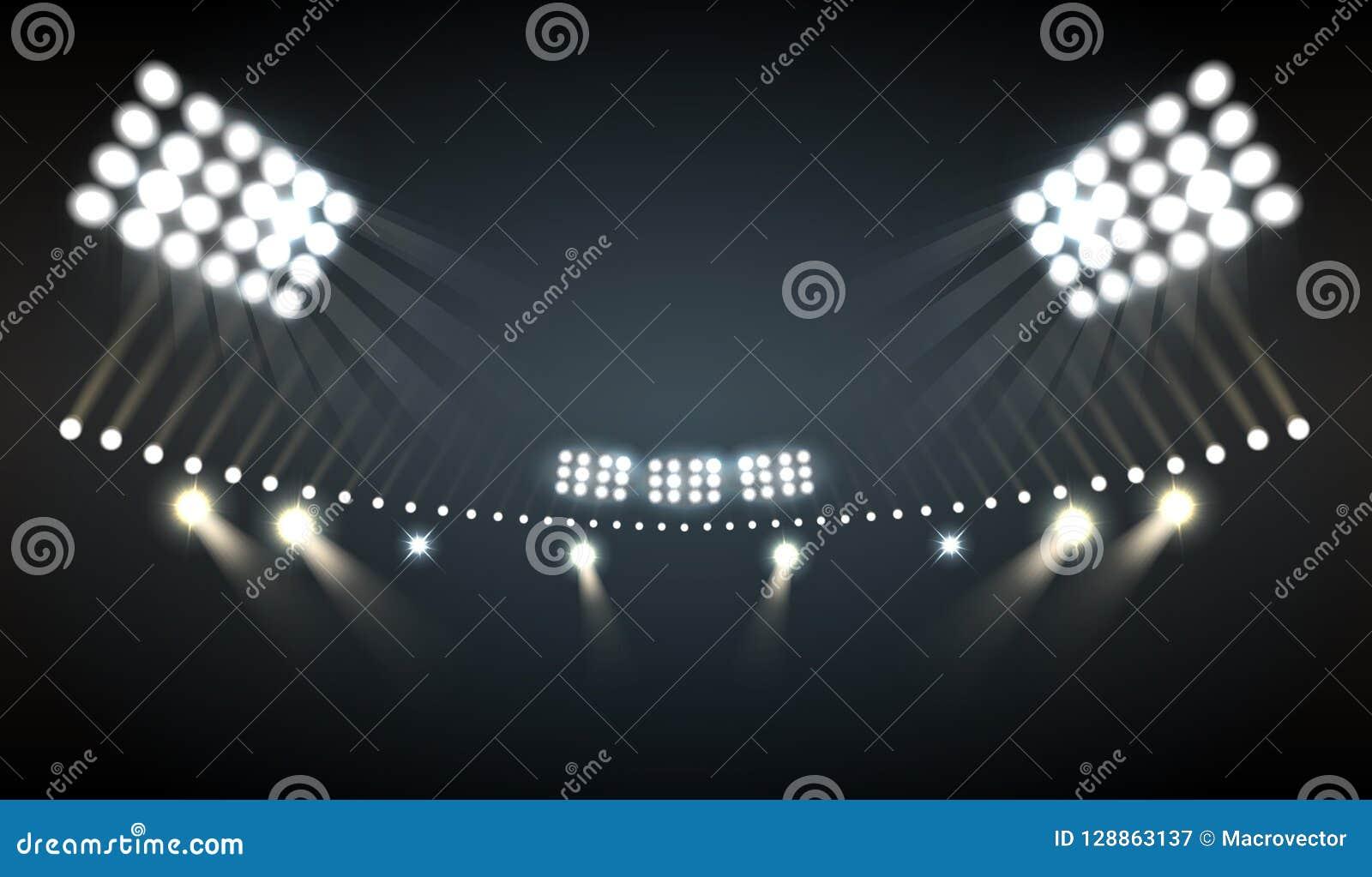 Stadion tänder bakgrund