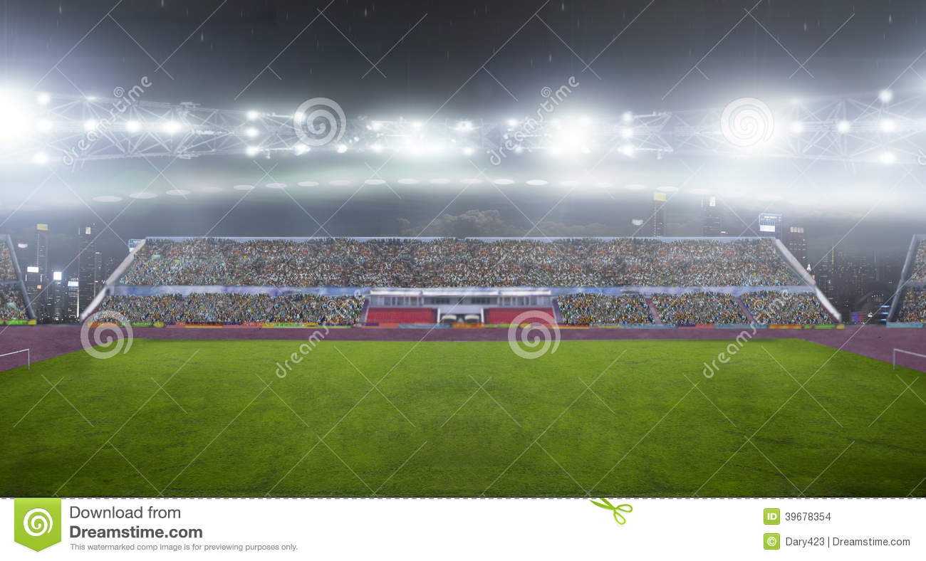 On The Stadium Abstract Football Or Soccer Backgrounds: On The Stadium. Stock Photo. Image Of Bright, Activity