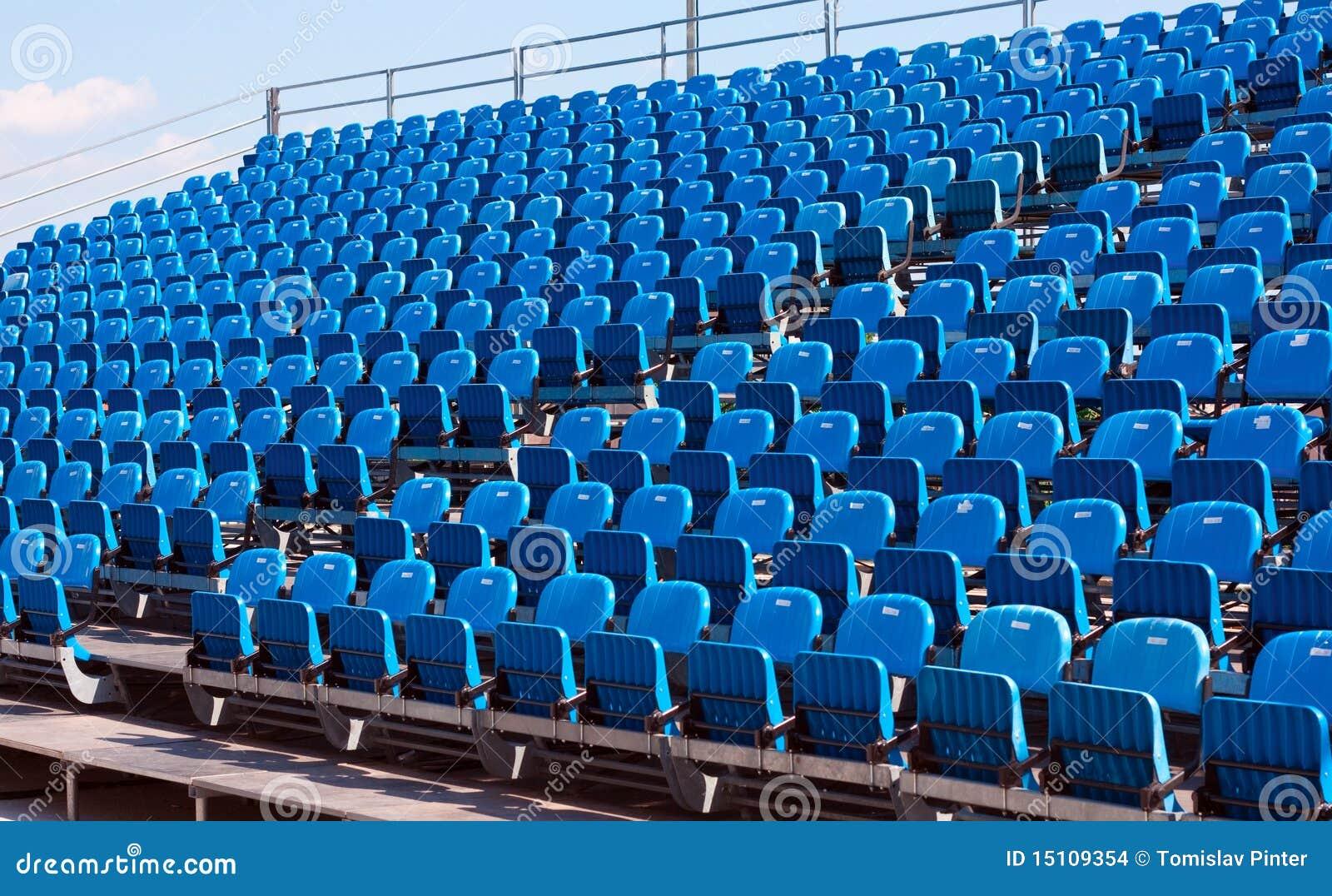 Stadium chairs stock photo. Image of spectators, chairs ...