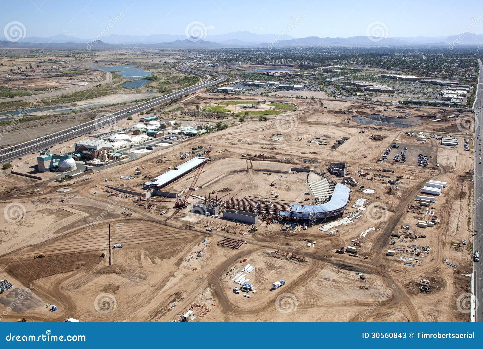 Stadium construction stock photos image 30560843 for Pond plants mesa az