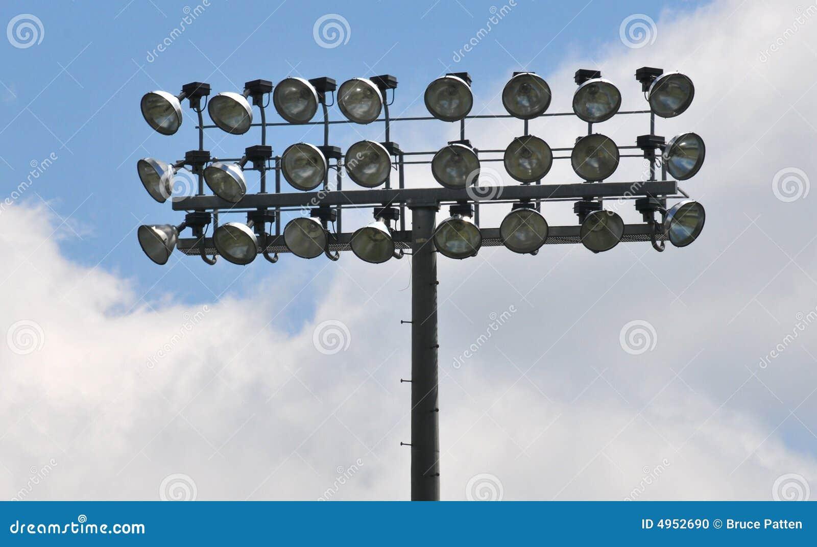 Stadium Flood Lights Stock Photo - Image: 4952690
