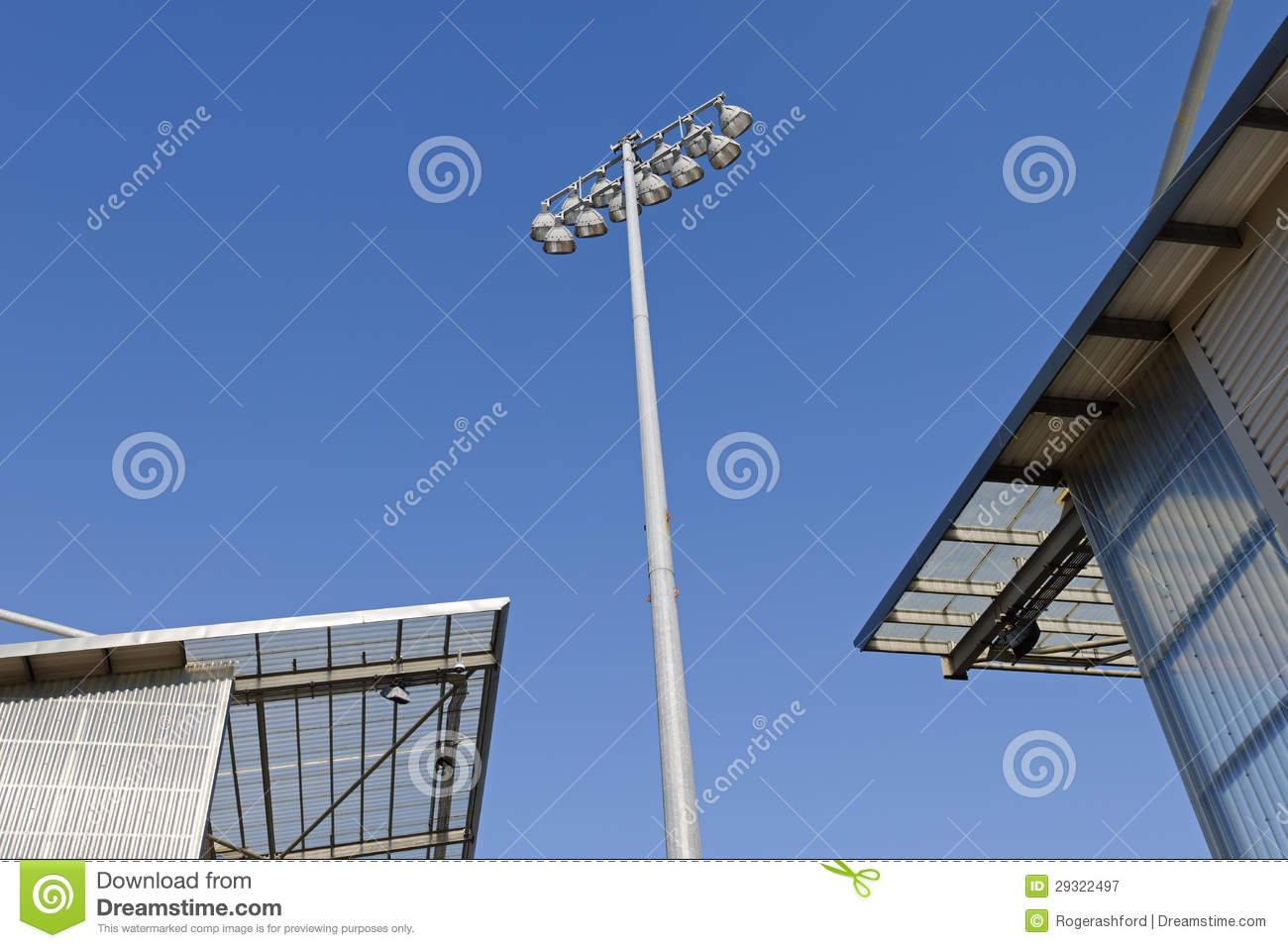 Stadium Floodlights Vector : Stadium floodlights royalty free stock photography image