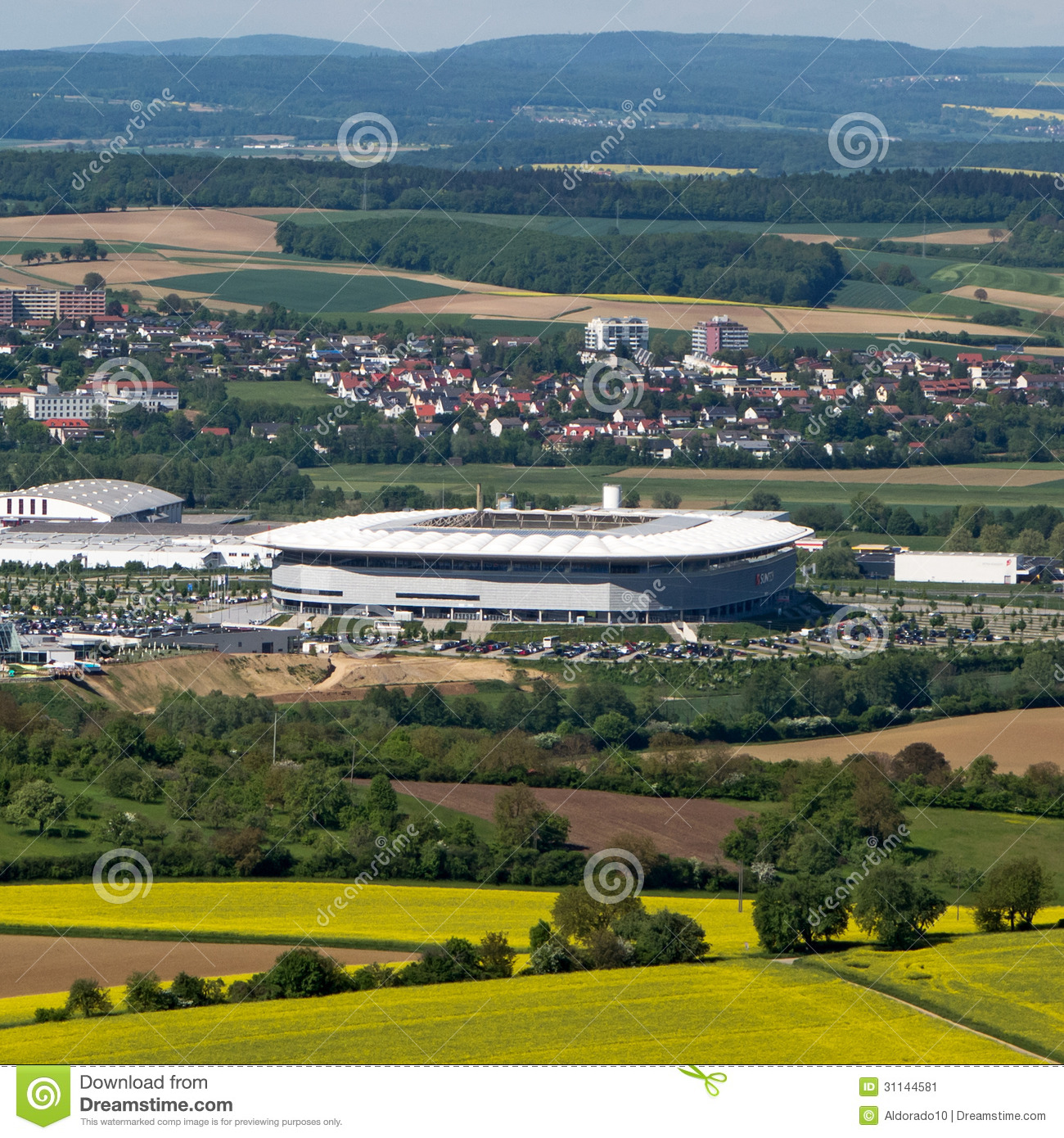 Map Of Germany Hoffenheim.Stadium Hoffenheim Editorial Photo Image Of Stade Roof 31144581