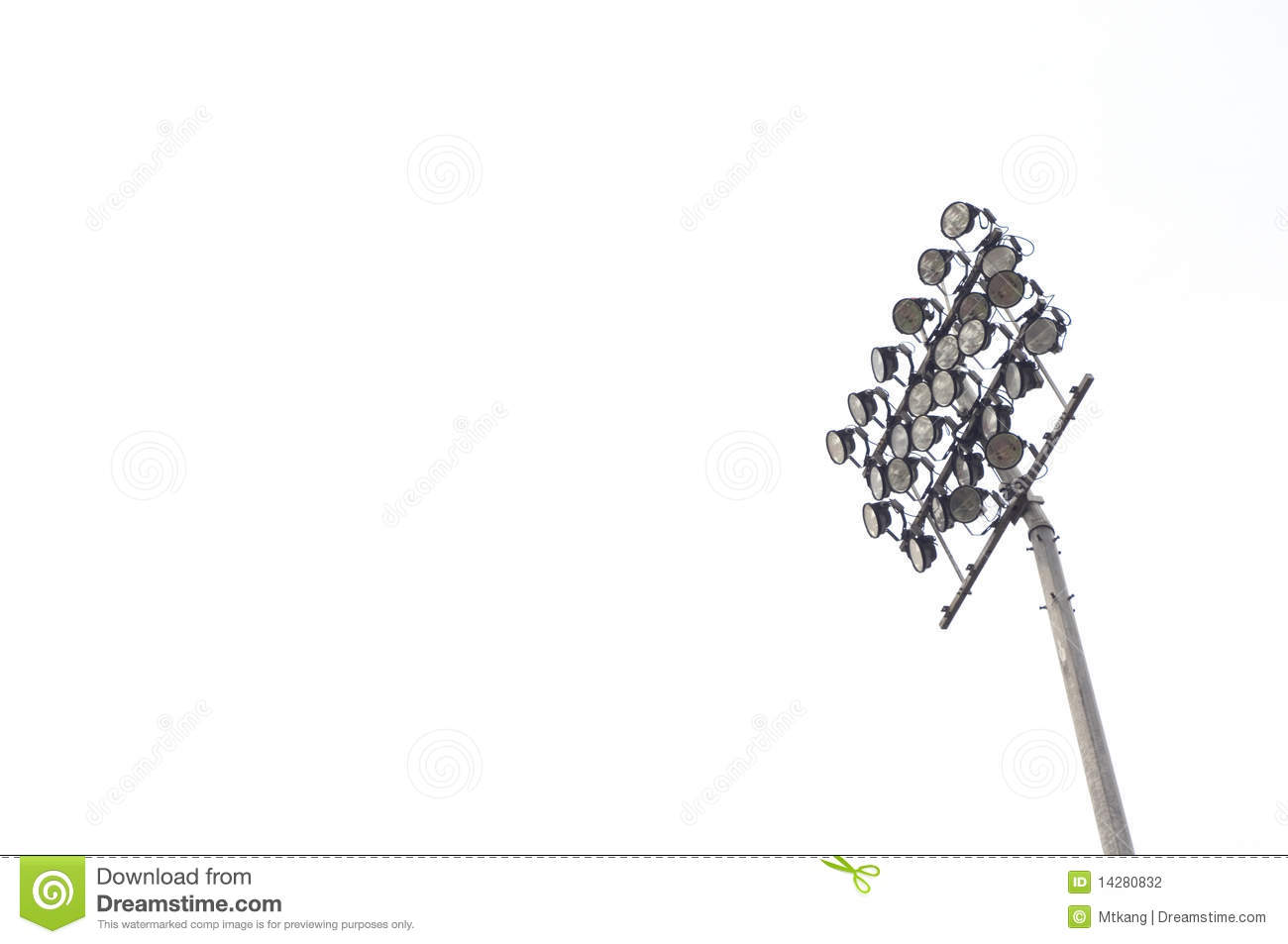 stadium light stock photography