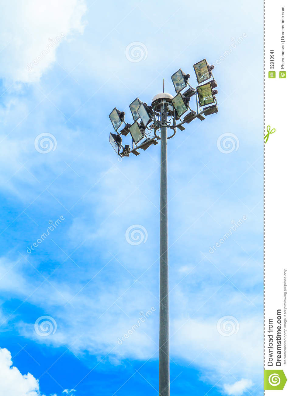 Stadium Light Pole Stock Image Image 32910941