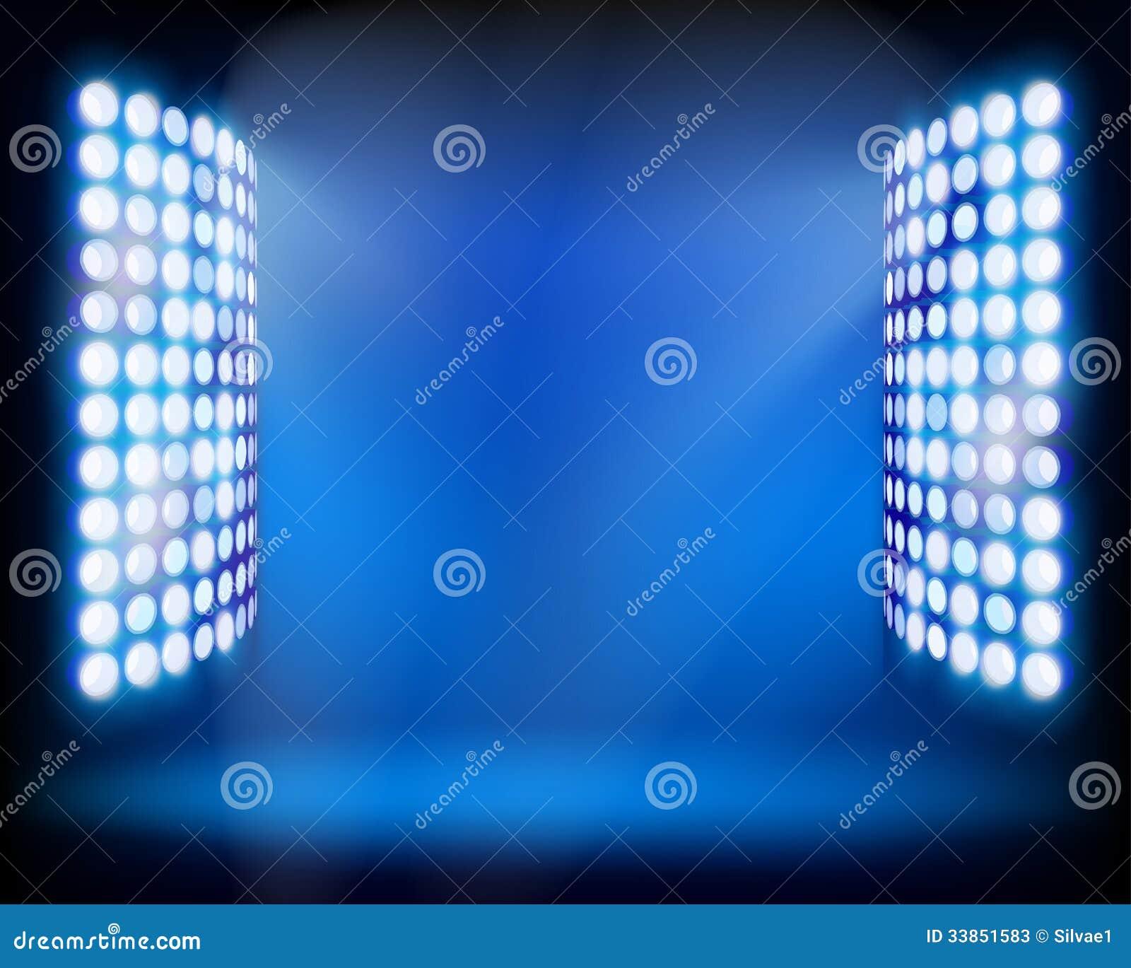 Stadium Lights Svg: The Stadium Light Towers. Vector Illustration. Stock