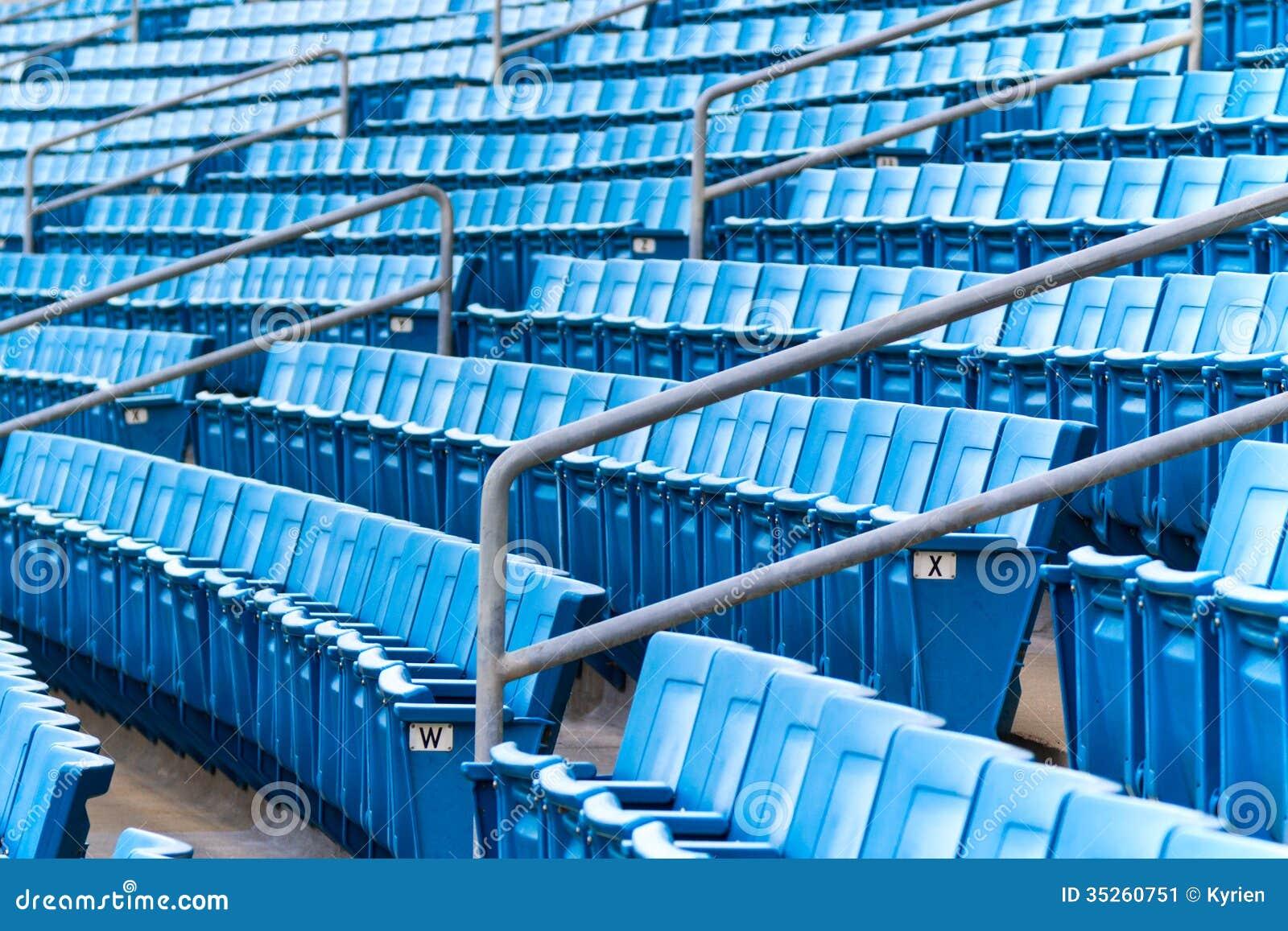 Stadium seating stock image Image of horizontal bench