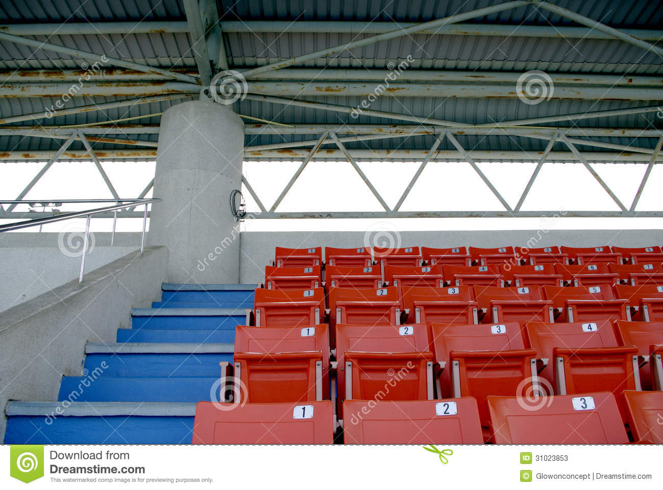 Stadium Seats At Outdoor Swimming Pool Stock Image Image 31023853